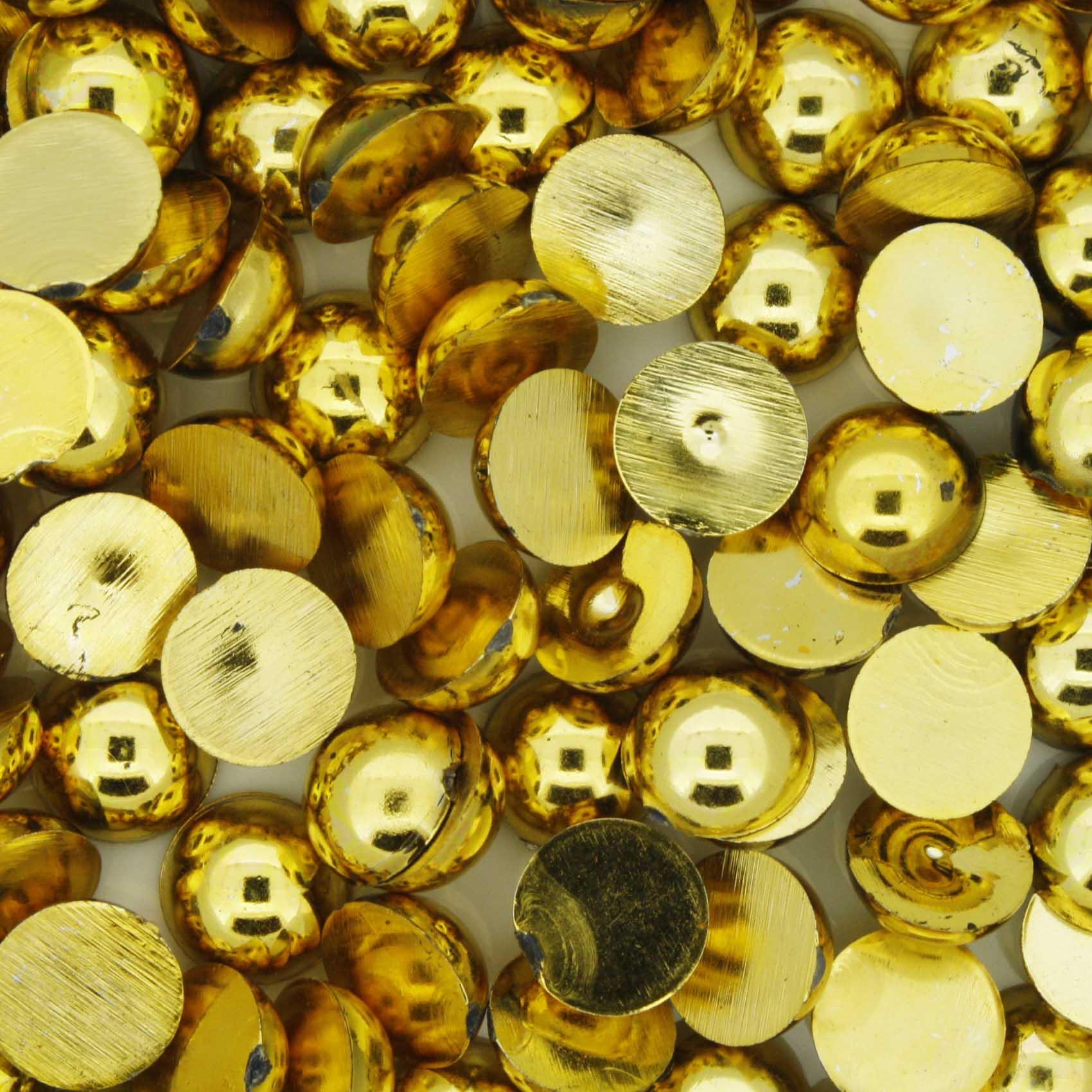 Meia Pérola - Dourada - 8mm  - Stéphanie Bijoux® - Peças para Bijuterias e Artesanato