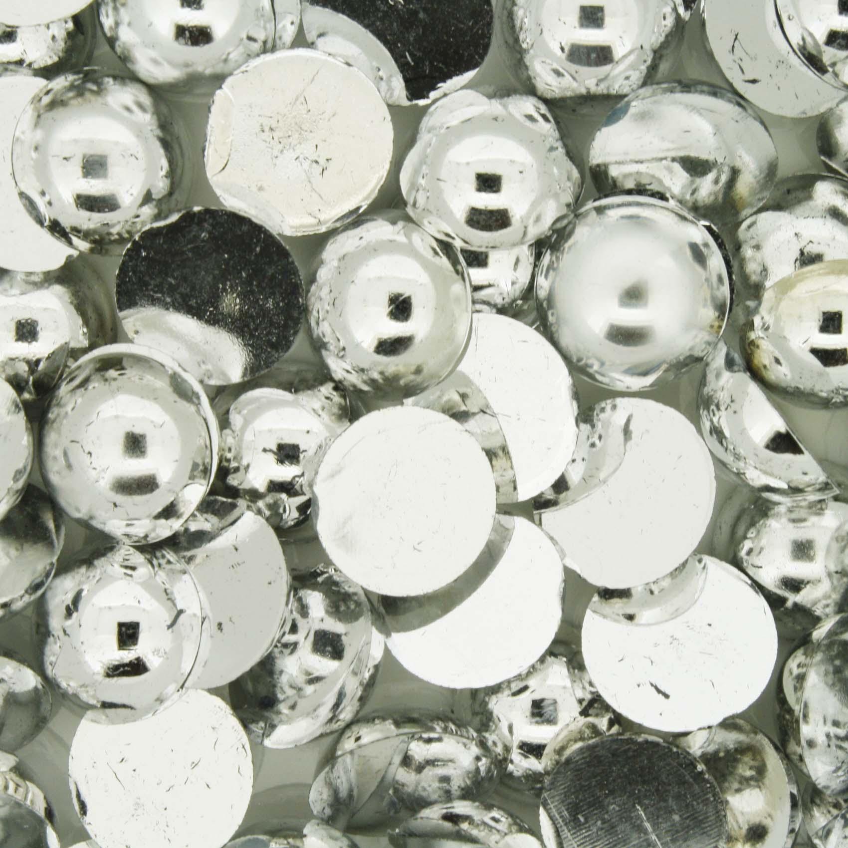 Meia Pérola - Prateada - 10mm  - Stéphanie Bijoux® - Peças para Bijuterias e Artesanato