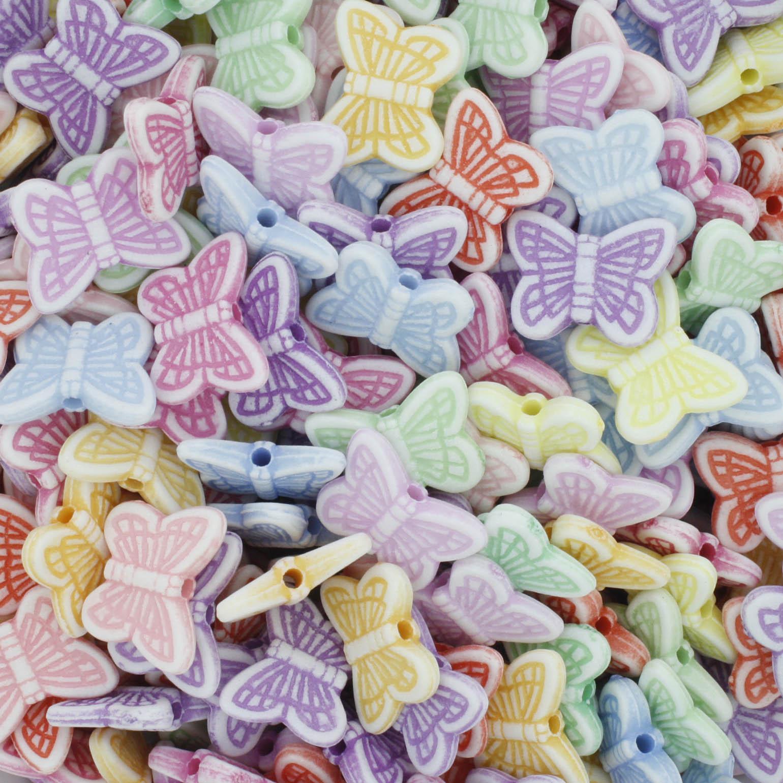 Miçanga Colorida Infantil - Borboletas  - Stéphanie Bijoux® - Peças para Bijuterias e Artesanato