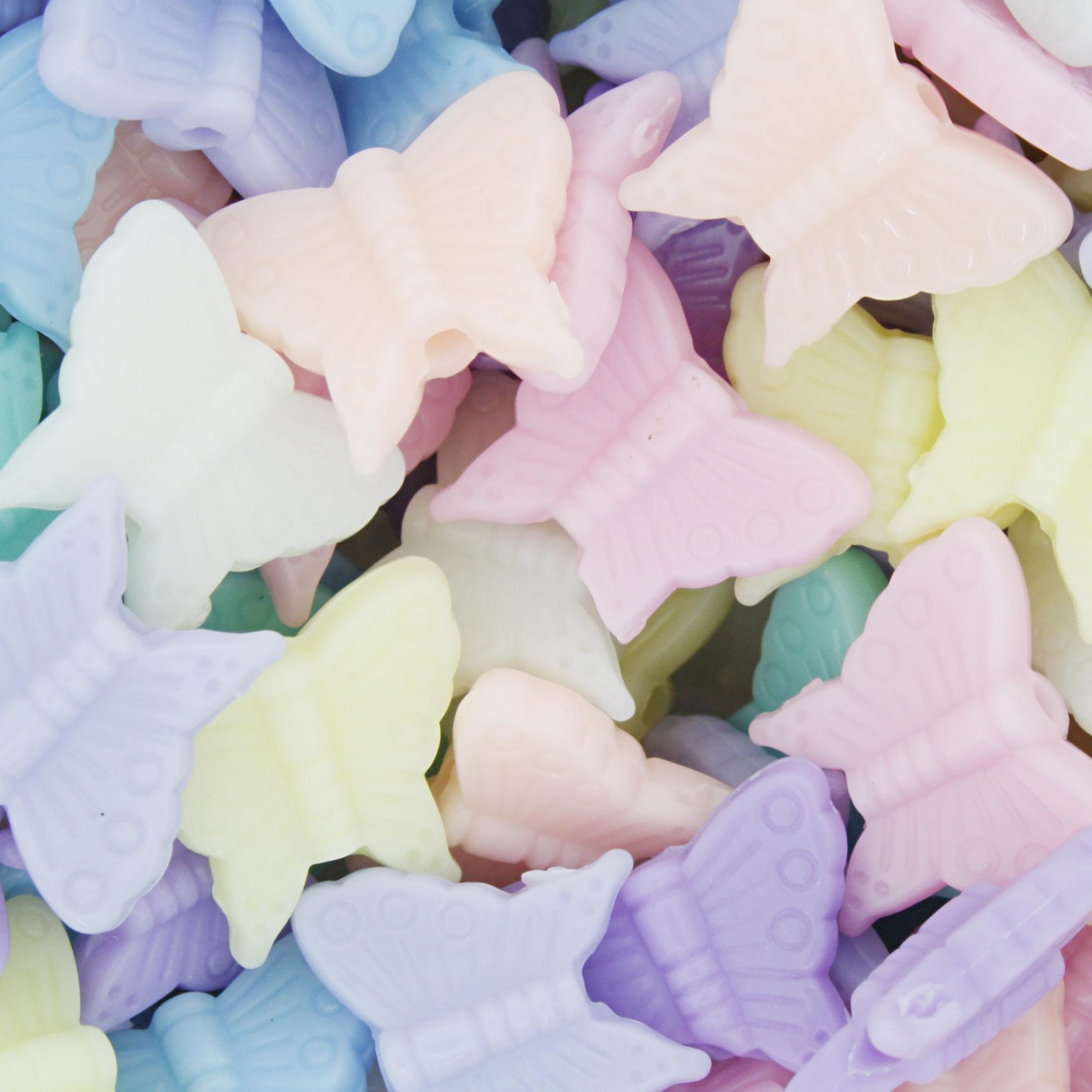 Miçanga Colorida Infantil - Borboletas Candy  - Stéphanie Bijoux® - Peças para Bijuterias e Artesanato