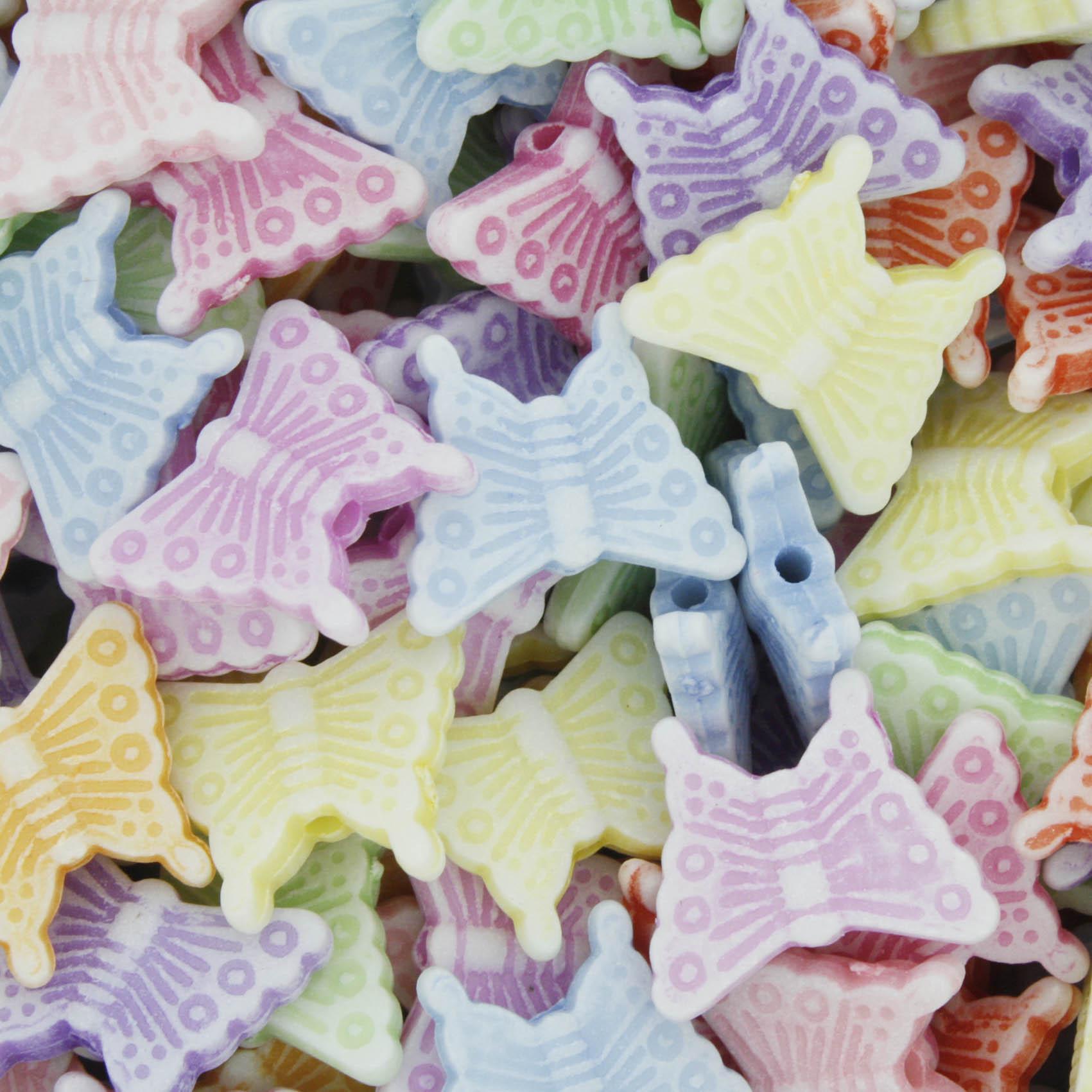 Miçanga Colorida Infantil - Borboletinhas  - Stéphanie Bijoux® - Peças para Bijuterias e Artesanato