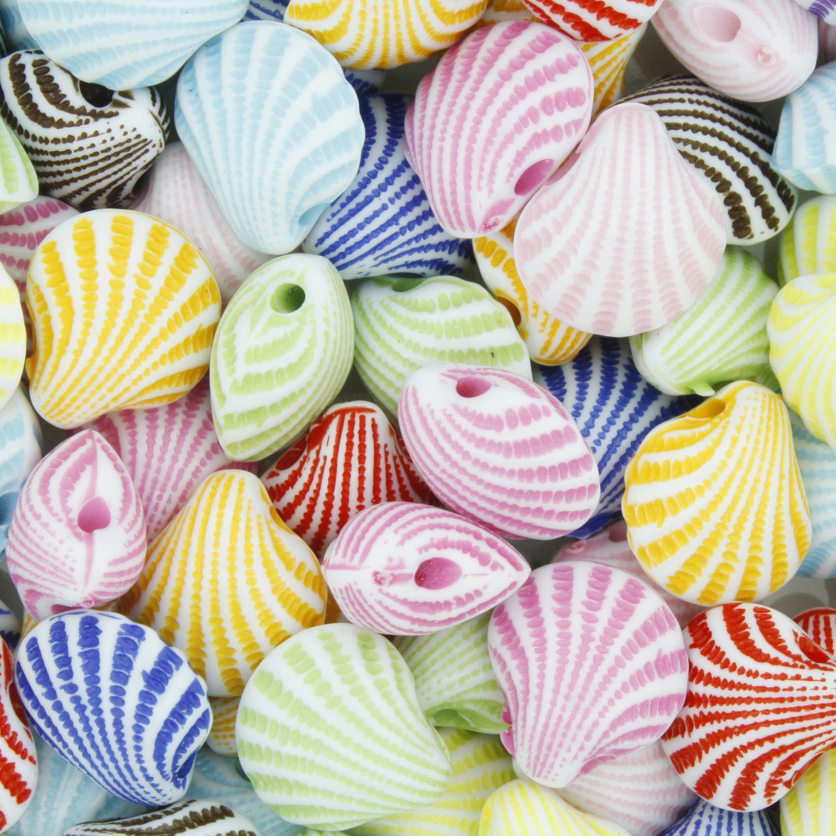 Miçanga Colorida / Infantil - Conchas  - Stéphanie Bijoux® - Peças para Bijuterias e Artesanato