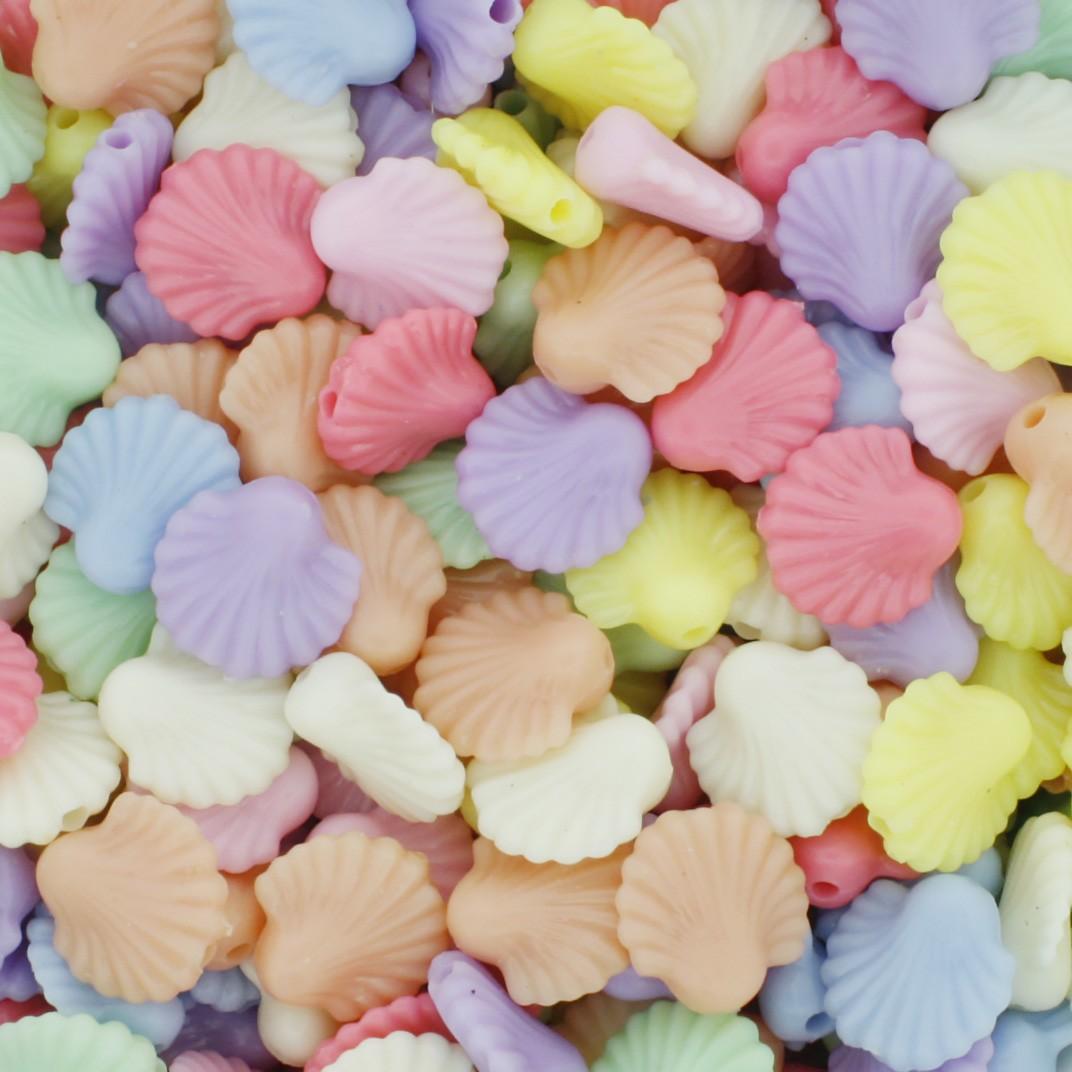 Miçanga Colorida Infantil - Conchas Candy  - Stéphanie Bijoux® - Peças para Bijuterias e Artesanato
