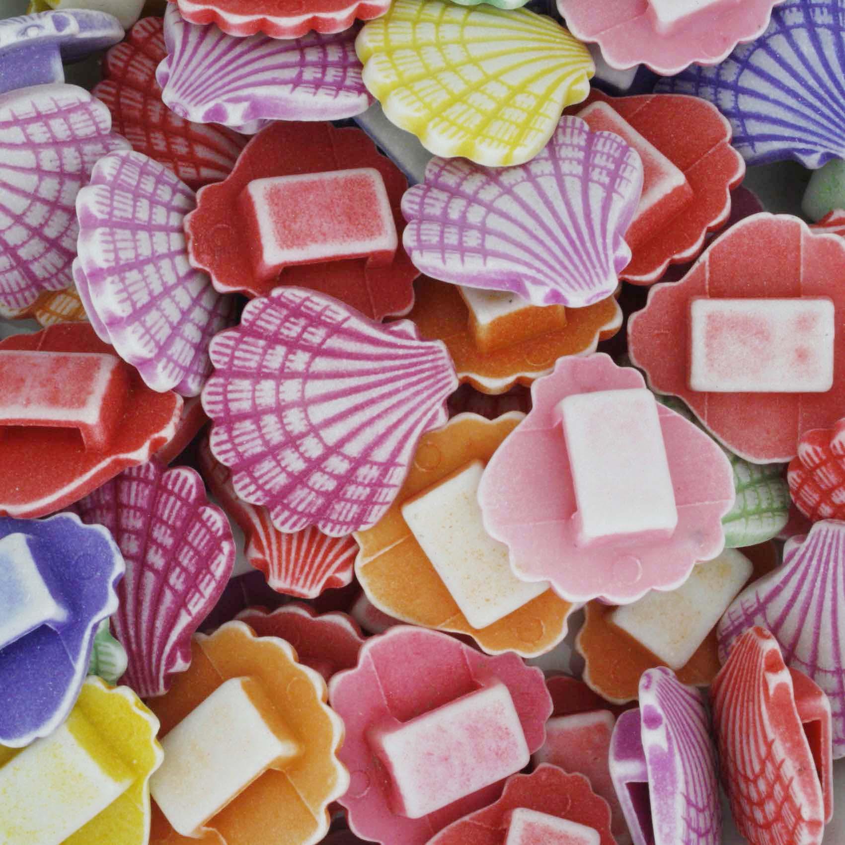 Miçanga Colorida / Infantil - Conchas Grandes  - Stéphanie Bijoux® - Peças para Bijuterias e Artesanato