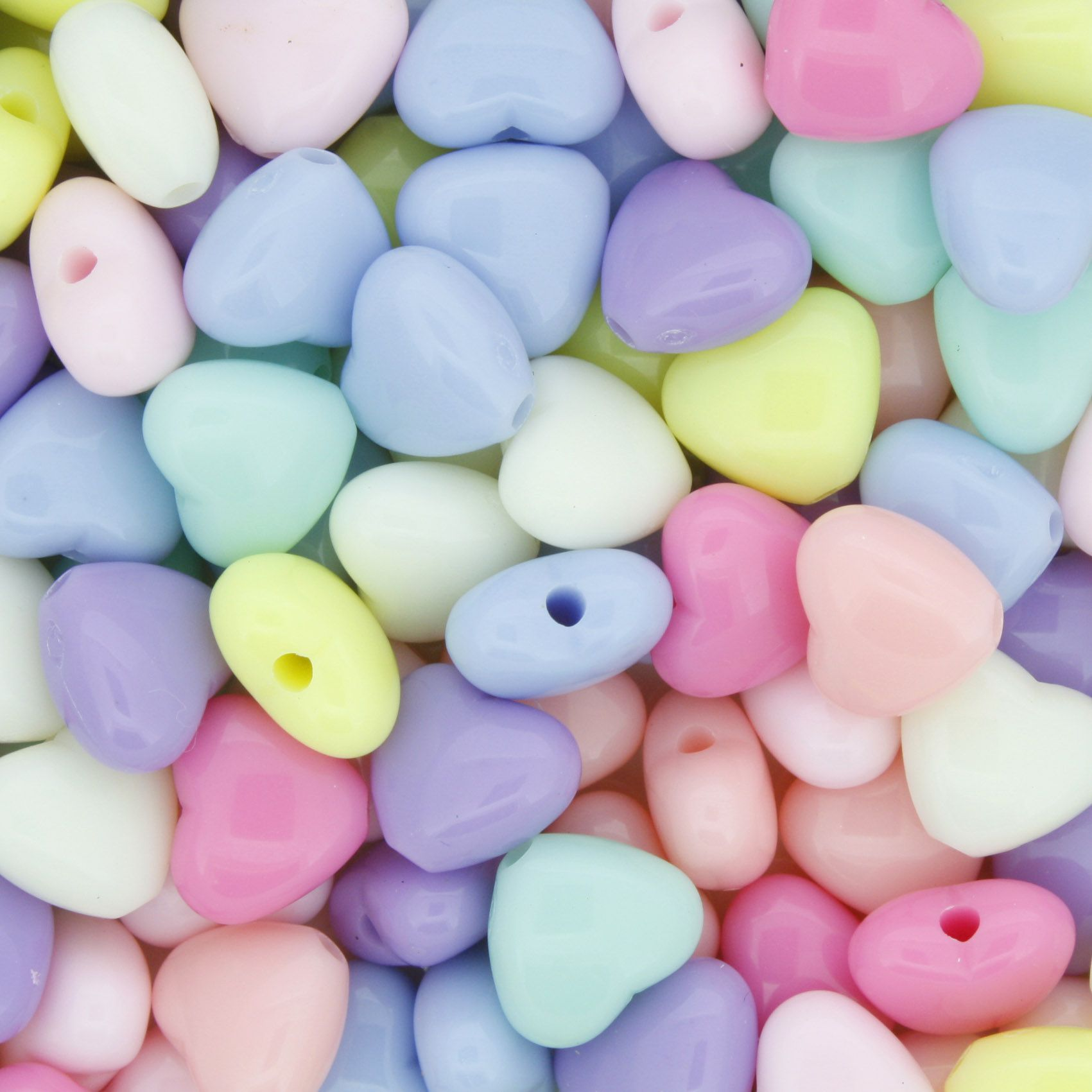 Miçanga Colorida / Infantil - Coração Candy  - Stéphanie Bijoux® - Peças para Bijuterias e Artesanato