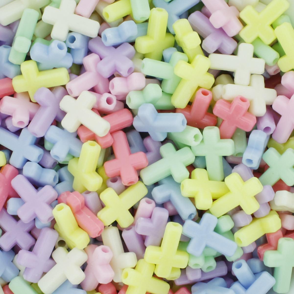 Miçanga Colorida Infantil - Crucifixos Candy  - Stéphanie Bijoux® - Peças para Bijuterias e Artesanato