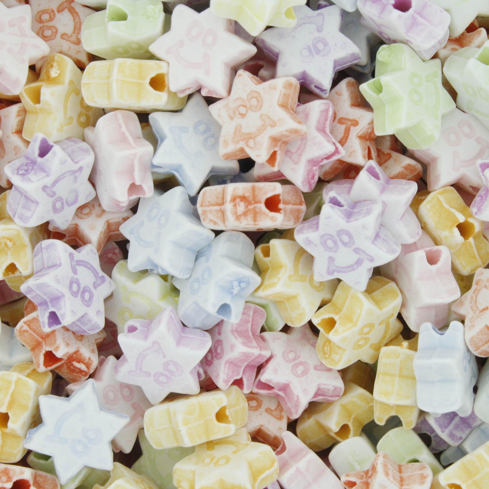 Miçanga Colorida / Infantil - Estrela  - Stéphanie Bijoux® - Peças para Bijuterias e Artesanato