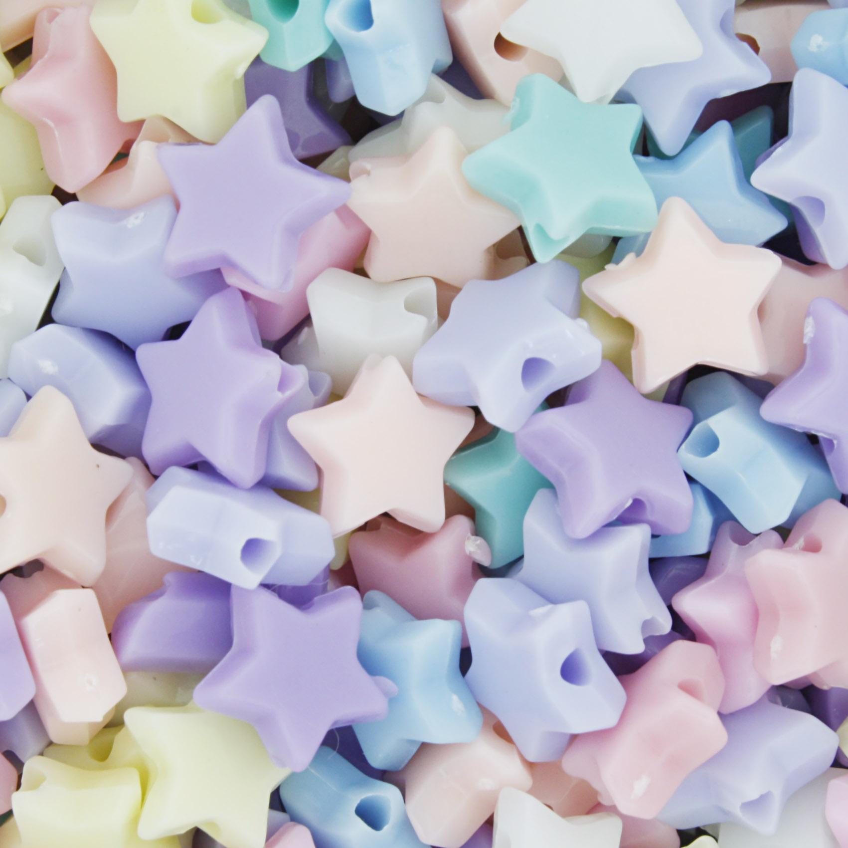 Miçanga Colorida Infantil - Estrela Candy  - Stéphanie Bijoux® - Peças para Bijuterias e Artesanato