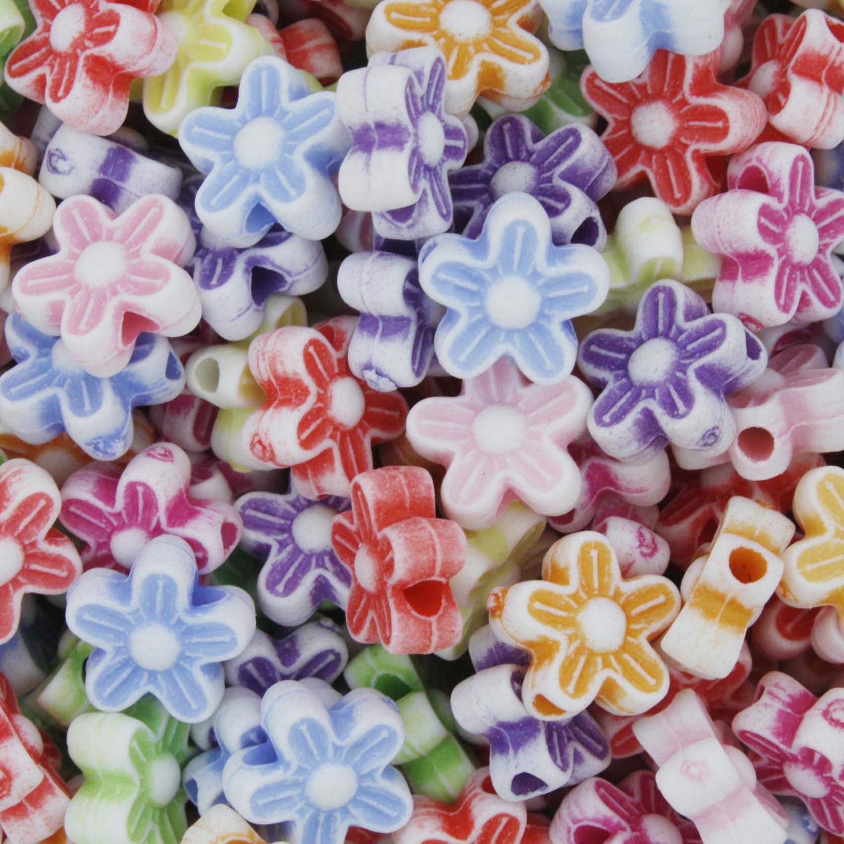 Miçanga Colorida / Infantil - Flor  - Stéphanie Bijoux® - Peças para Bijuterias e Artesanato