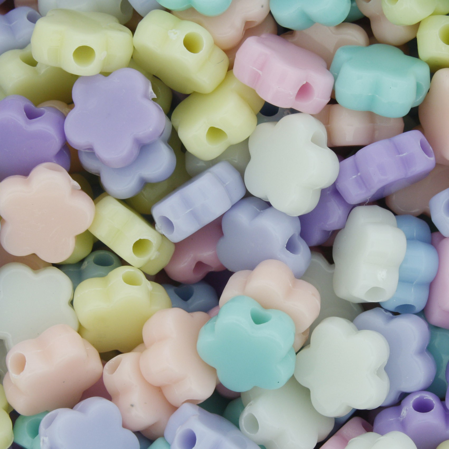 Miçanga Colorida Infantil - Flor Candy  - Stéphanie Bijoux® - Peças para Bijuterias e Artesanato