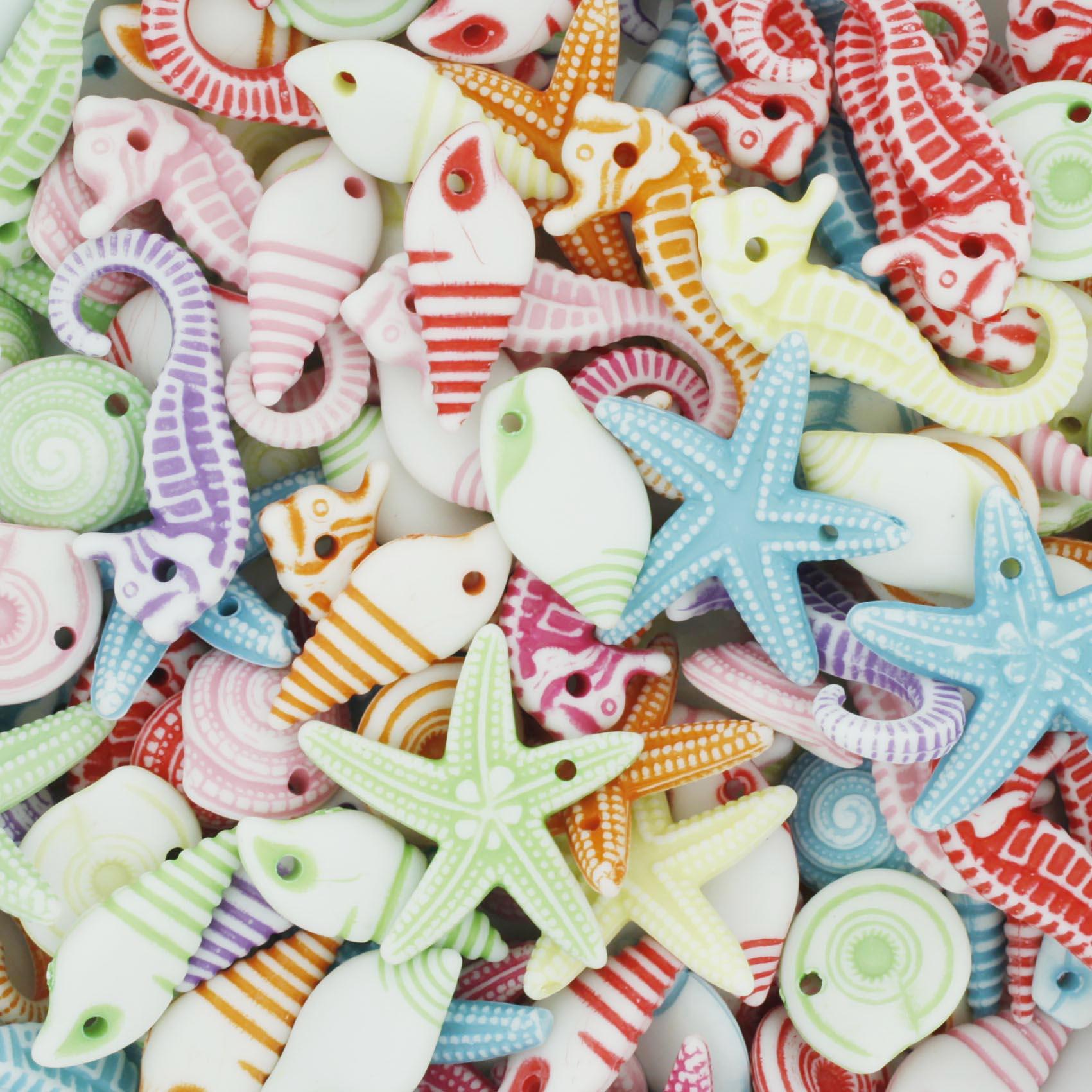 Miçanga Colorida / Infantil - Fundo do Mar [G]  - Stéphanie Bijoux® - Peças para Bijuterias e Artesanato