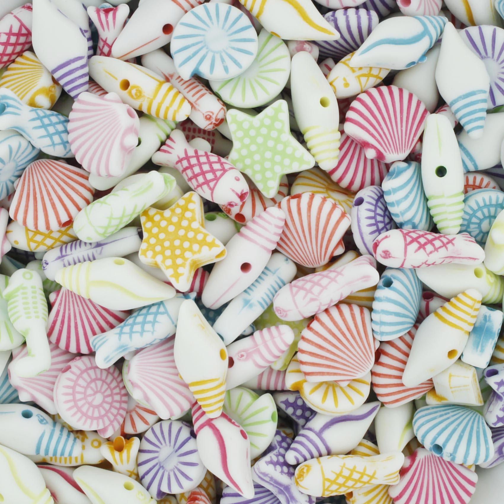 Miçanga Colorida / Infantil - Fundo do Mar [P]  - Stéphanie Bijoux® - Peças para Bijuterias e Artesanato