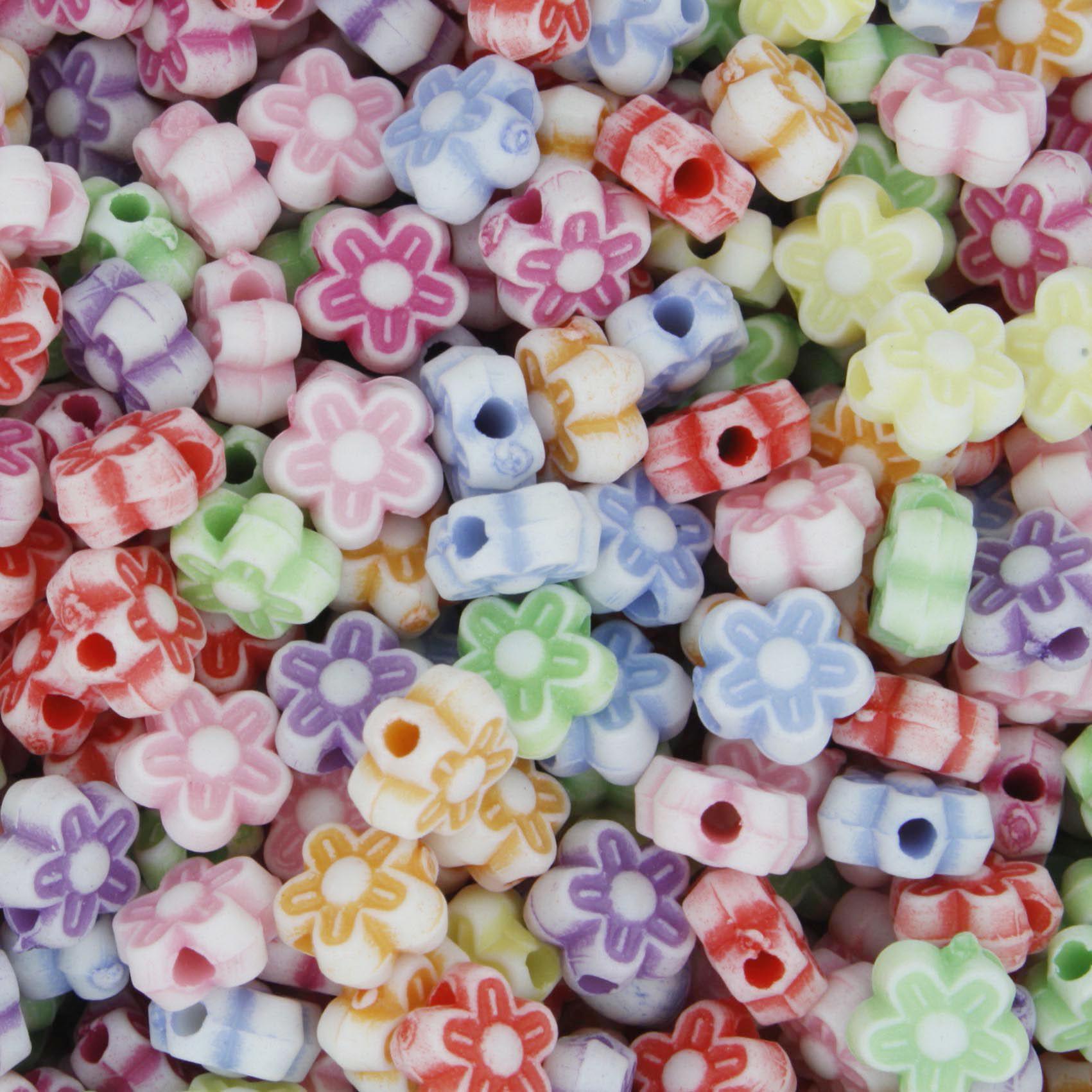 Miçanga Colorida / Infantil - Mini Flor  - Stéphanie Bijoux® - Peças para Bijuterias e Artesanato