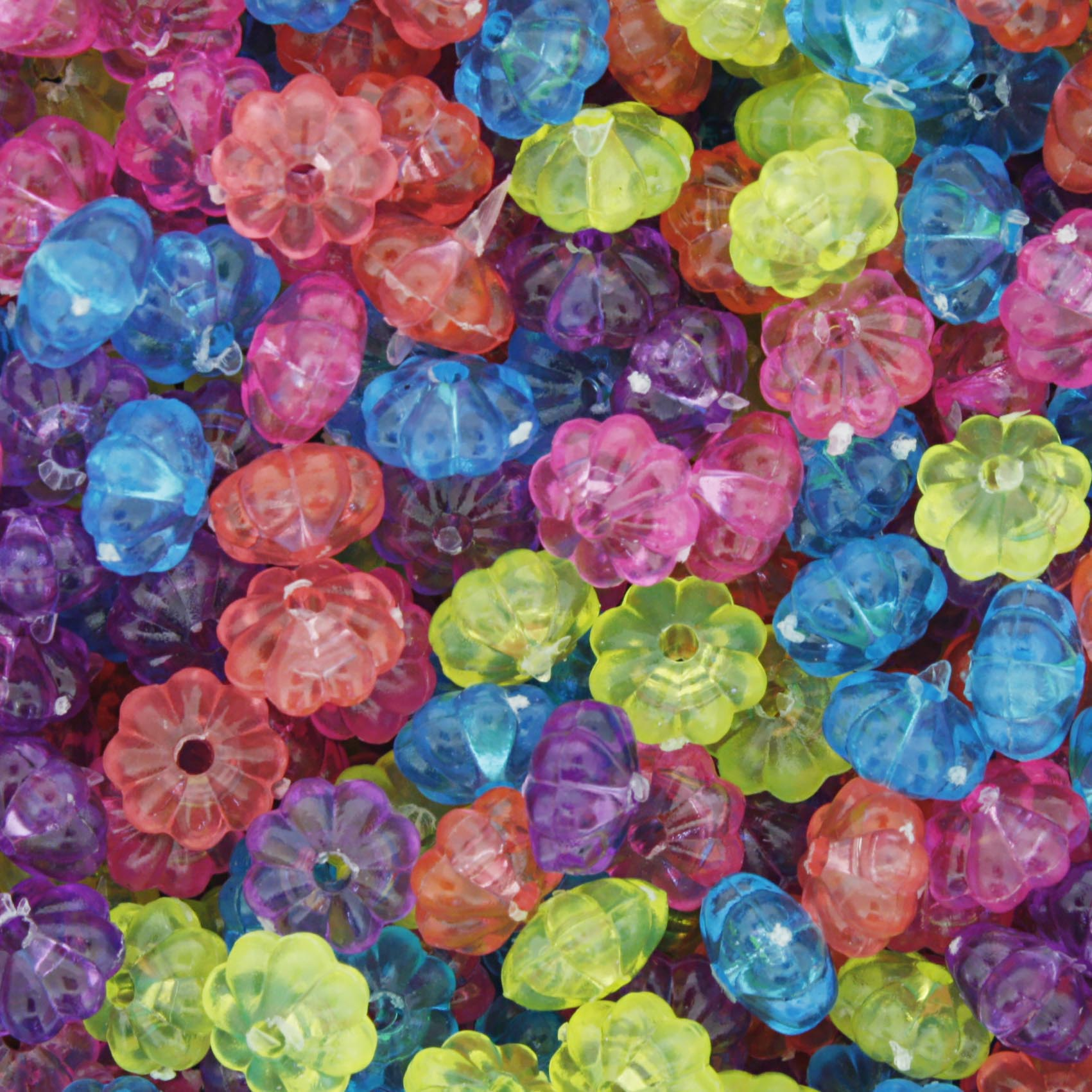 Miçanga Colorida / Infantil - Pitanga Neon Transparente  - Stéphanie Bijoux® - Peças para Bijuterias e Artesanato