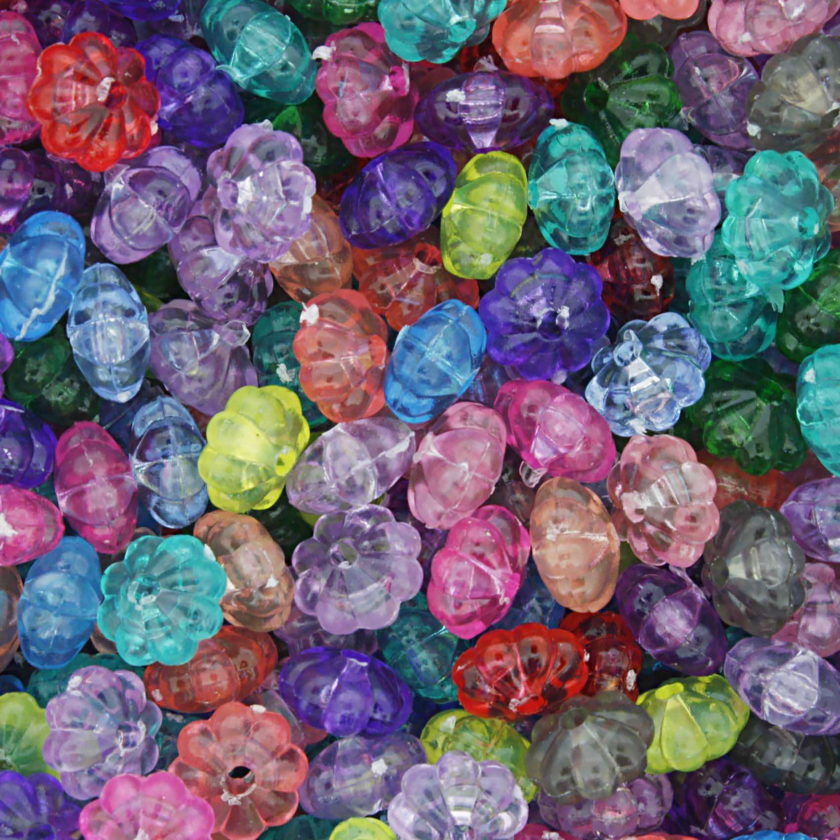 Miçanga Colorida / Infantil - Pitanga Transparente  - Stéphanie Bijoux® - Peças para Bijuterias e Artesanato