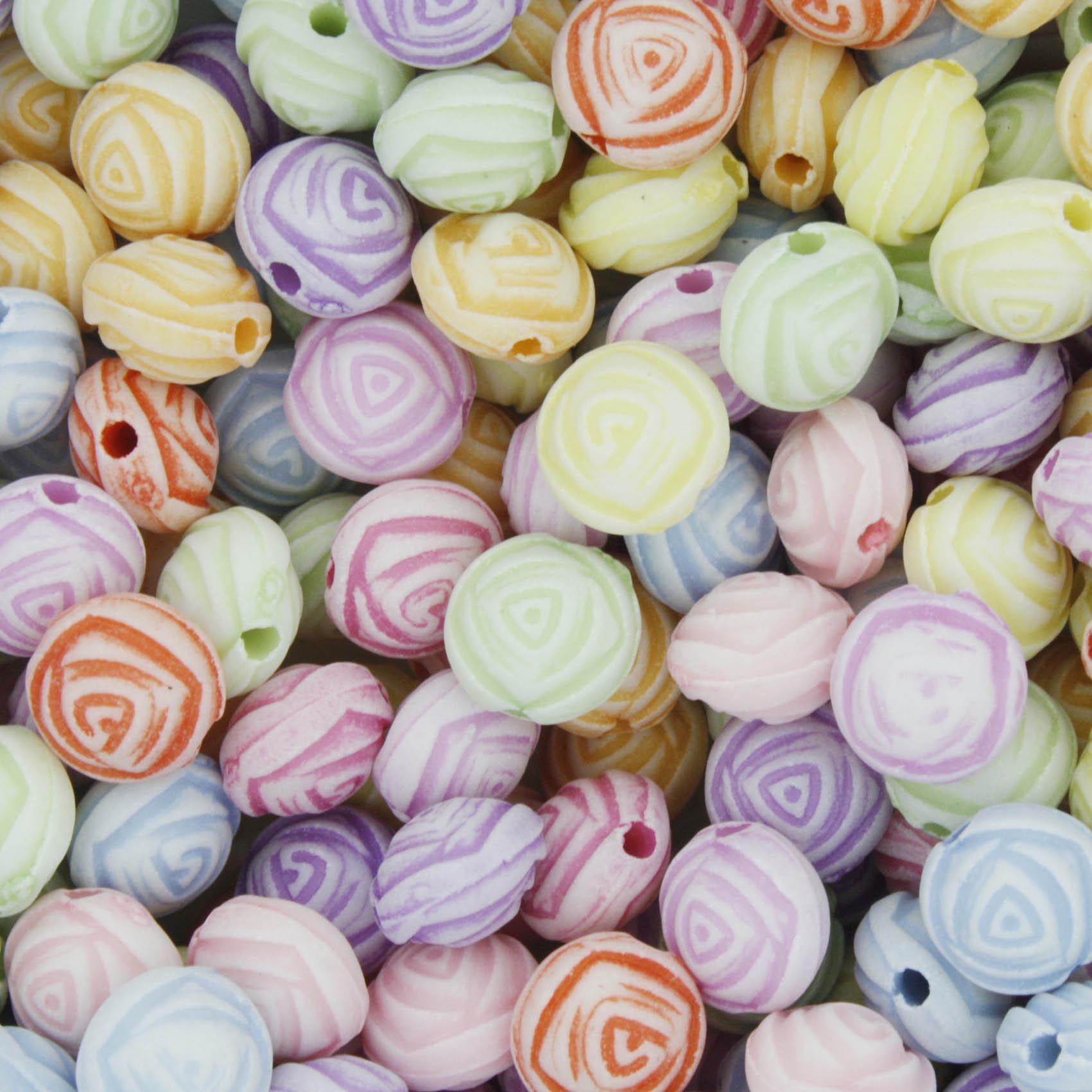 Miçanga Colorida / Infantil - Rosa  - Stéphanie Bijoux® - Peças para Bijuterias e Artesanato