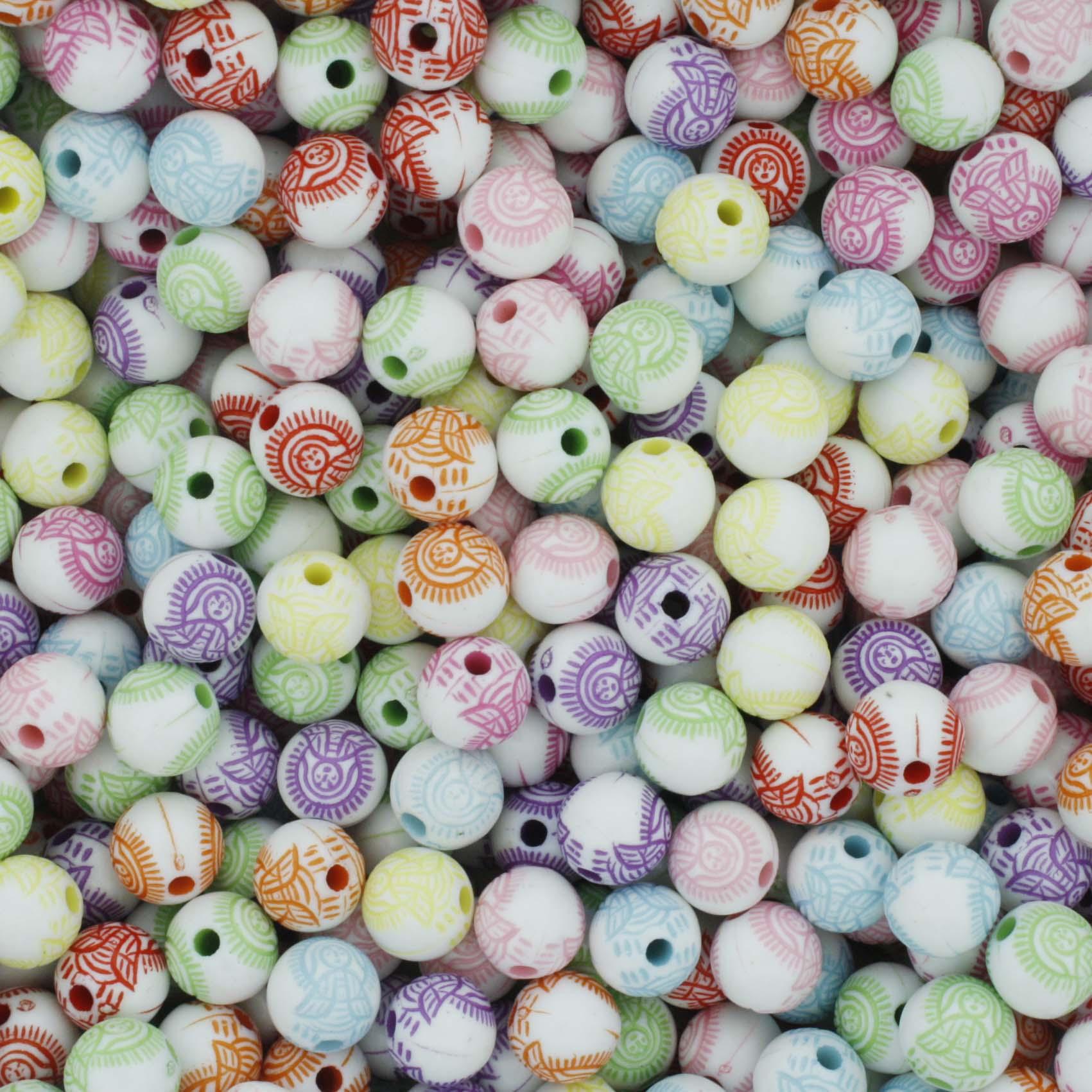 Miçanga Colorida / Infantil - Santa  - Stéphanie Bijoux® - Peças para Bijuterias e Artesanato