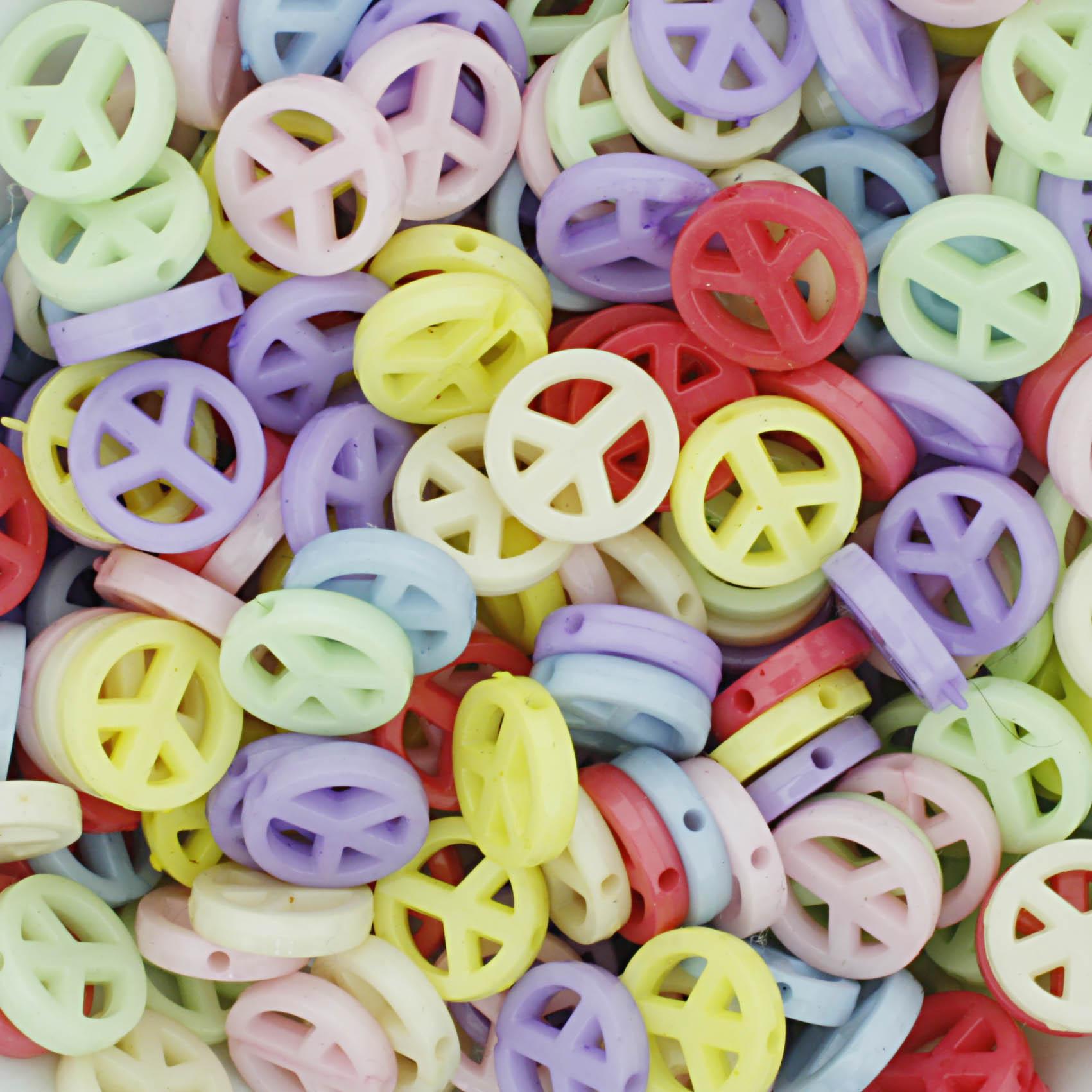 Miçanga Colorida Infantil - Símbolo da Paz  - Stéphanie Bijoux® - Peças para Bijuterias e Artesanato