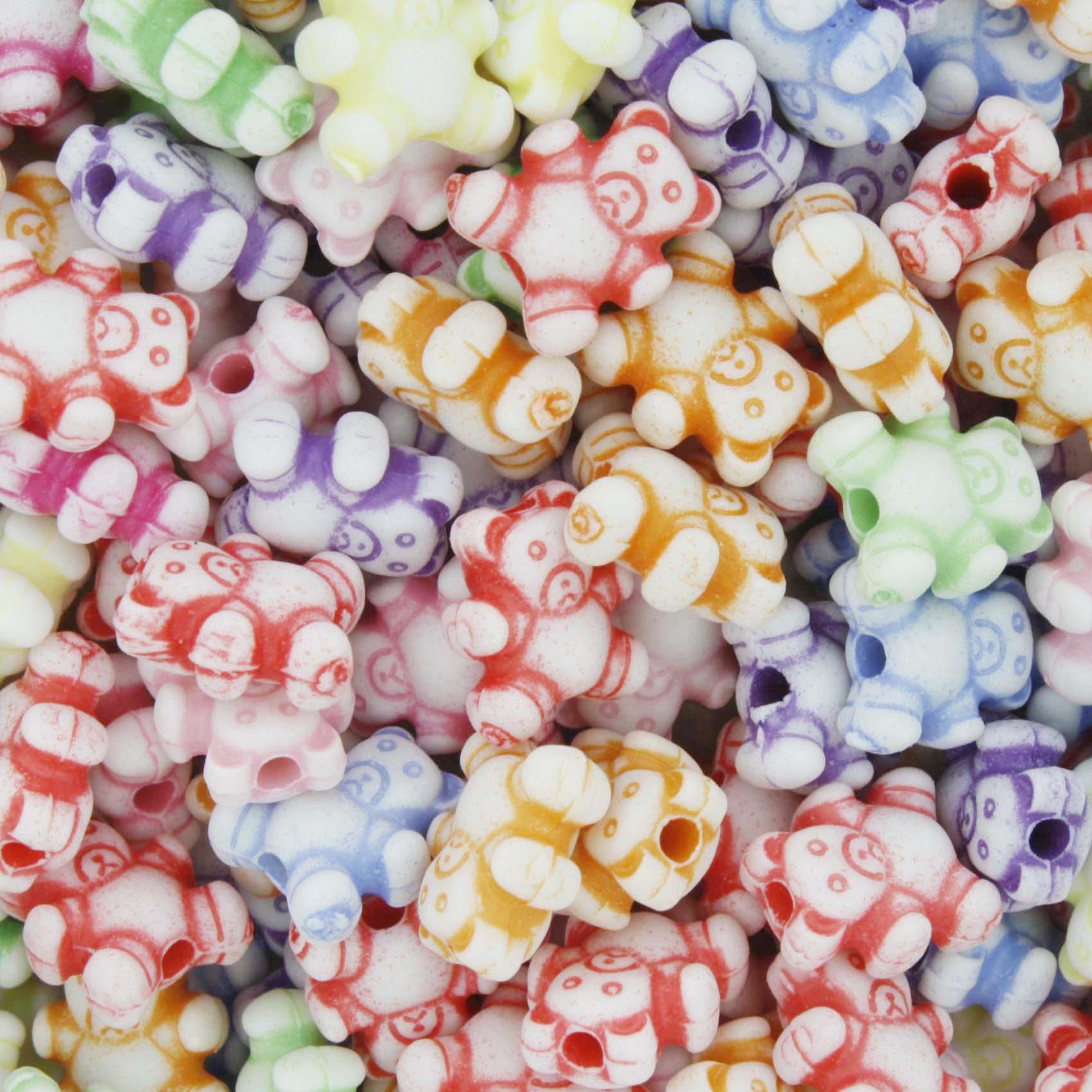 Miçanga Colorida / Infantil - Ursinhos  - Stéphanie Bijoux® - Peças para Bijuterias e Artesanato