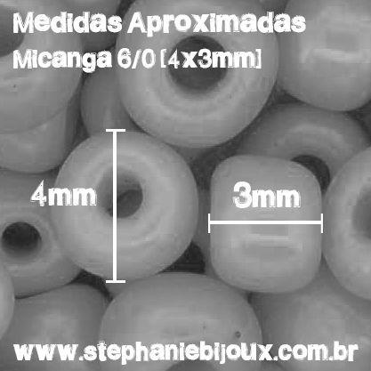 Miçanga Crystal® - Preta 6/0 [4x3mm]  - Stéphanie Bijoux® - Peças para Bijuterias e Artesanato