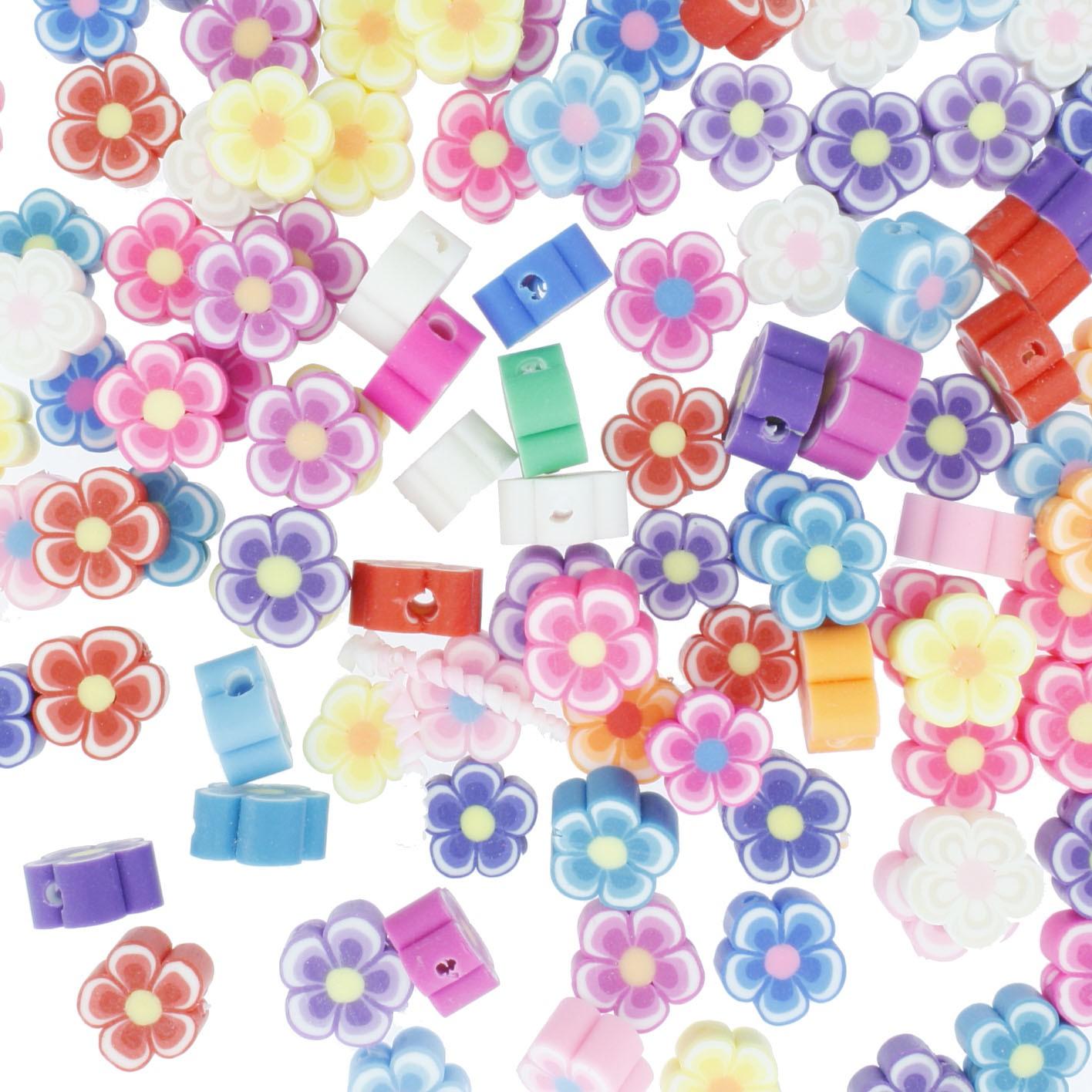 Miçanga Infantil - Borracha - Florzinha  - Stéphanie Bijoux® - Peças para Bijuterias e Artesanato