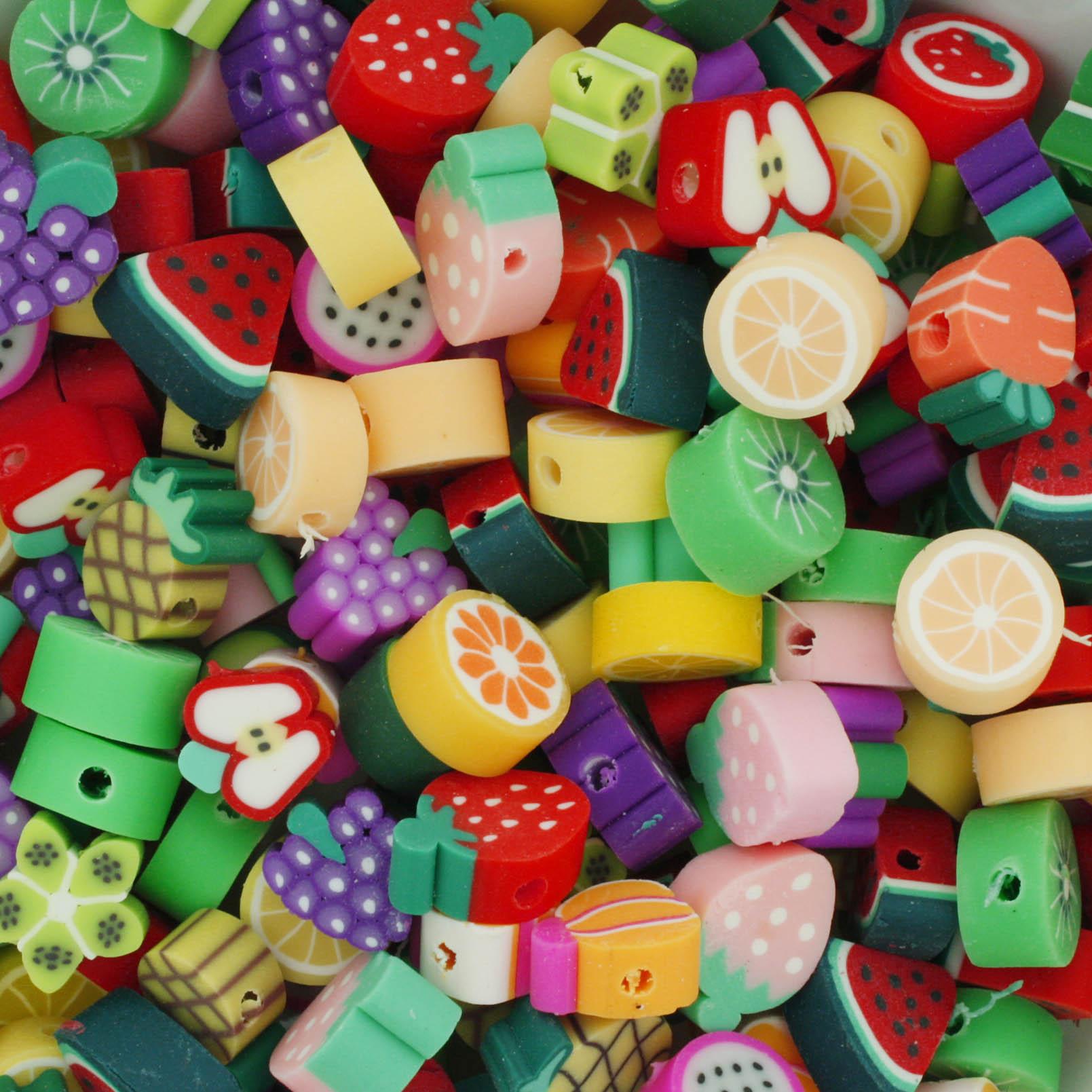 Miçanga Infantil - Borracha - Frutinhas  - Stéphanie Bijoux® - Peças para Bijuterias e Artesanato