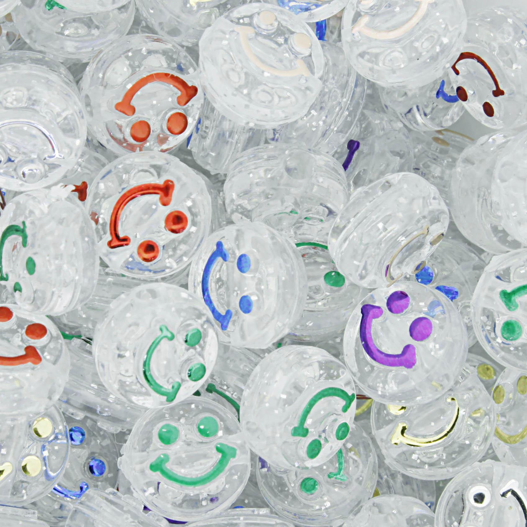 Miçanga Infantil - Smile Colors Transparente  - Stéphanie Bijoux® - Peças para Bijuterias e Artesanato
