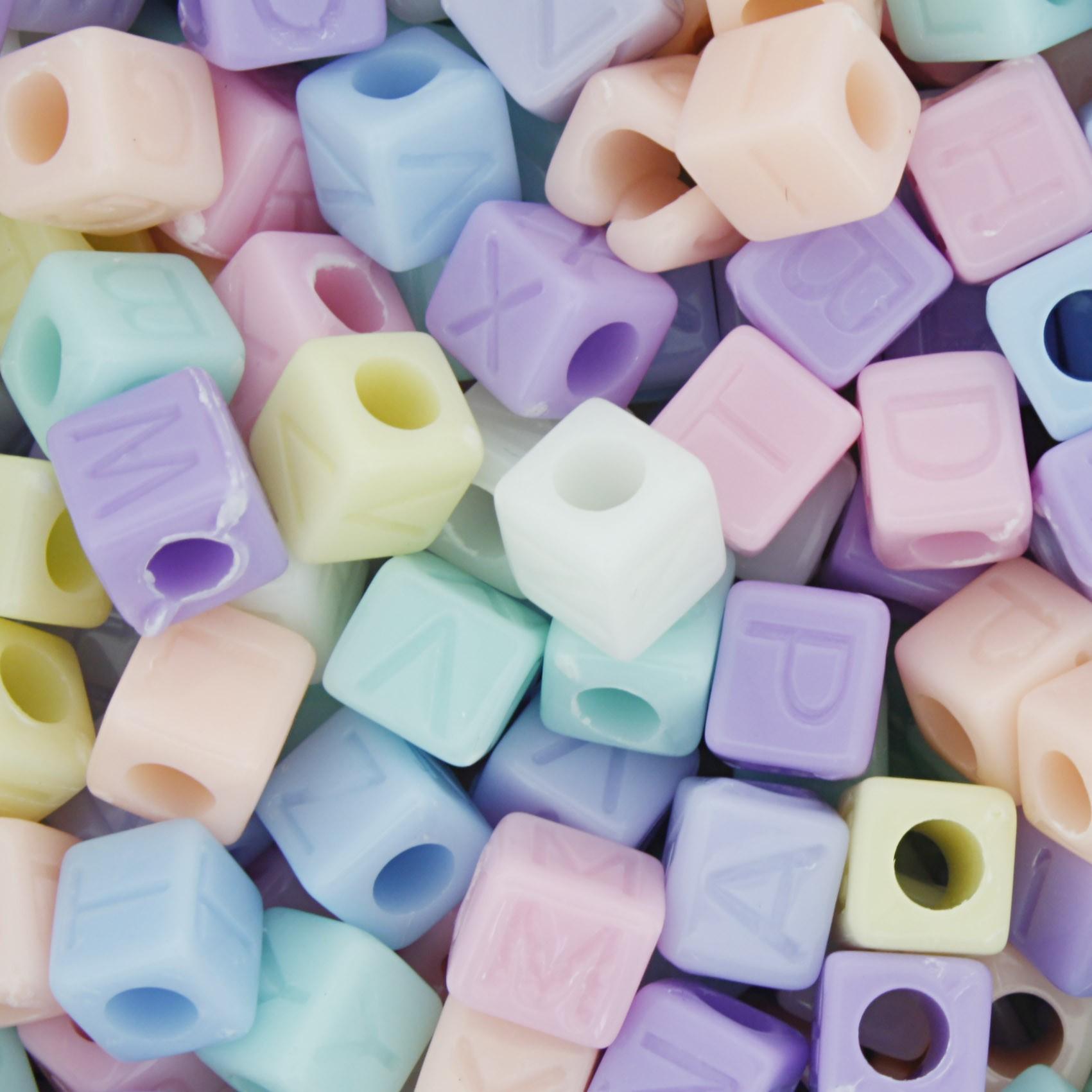 Miçanga - Letras Cubo Candy  - Stéphanie Bijoux® - Peças para Bijuterias e Artesanato