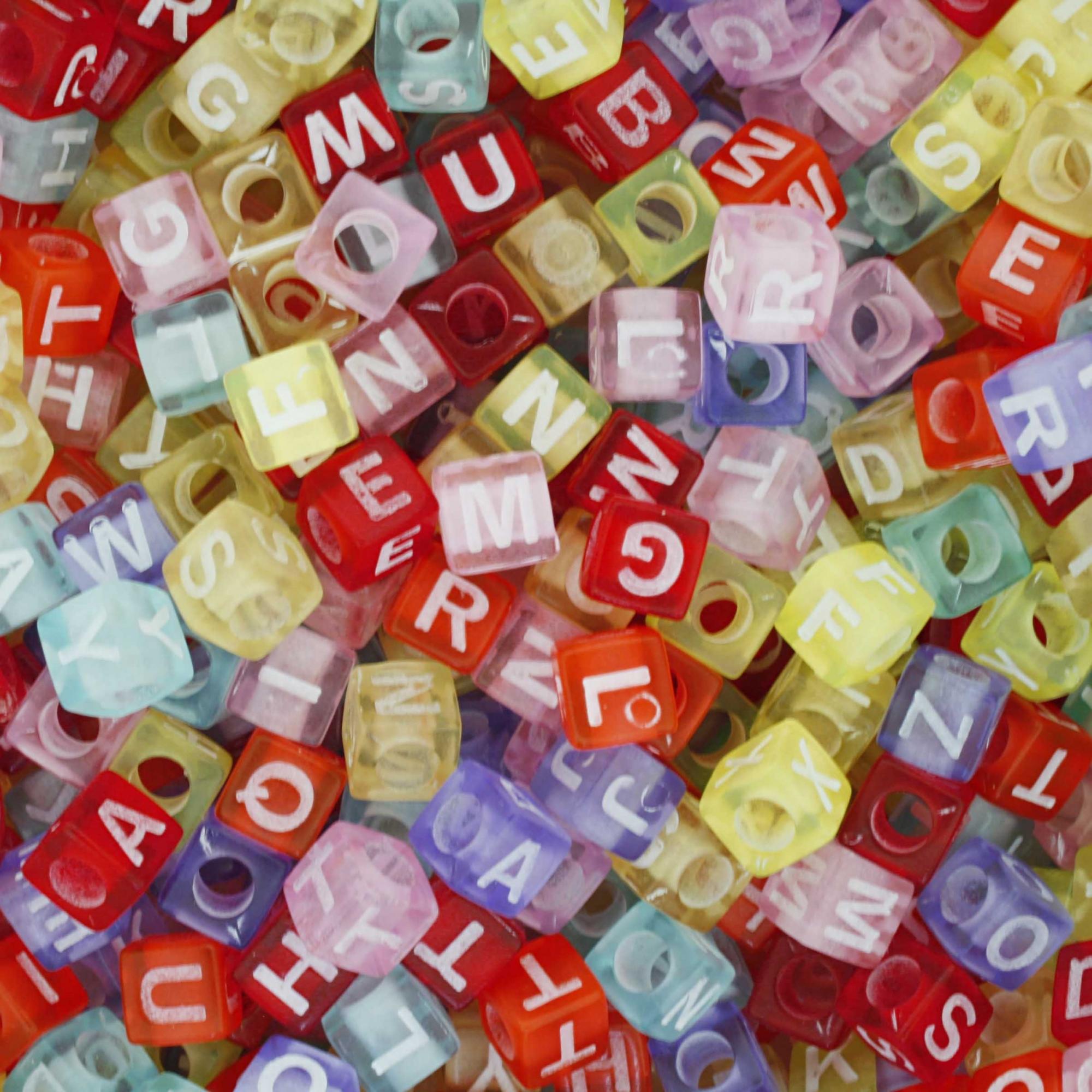 Miçanga - Letras Cubo Colors  - Stéphanie Bijoux® - Peças para Bijuterias e Artesanato