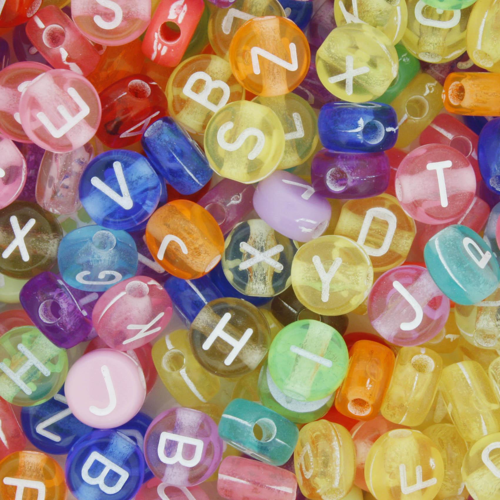 Miçanga - Letras Disco Colors  - Stéphanie Bijoux® - Peças para Bijuterias e Artesanato
