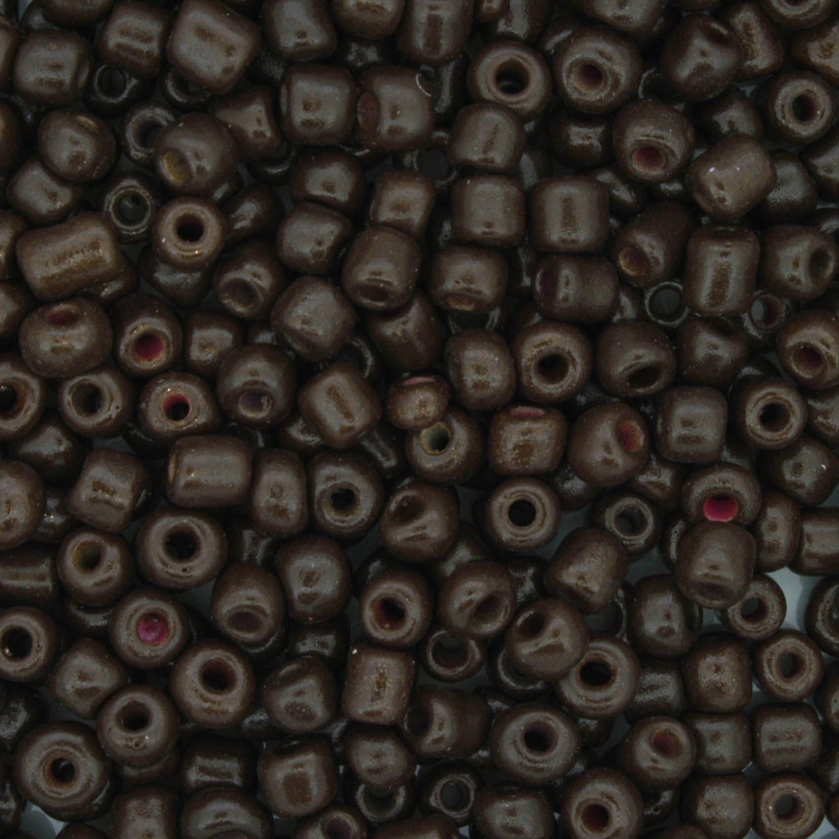 Miçanga - Marrom Escura - 6/0 [4x3mm]  - Stéphanie Bijoux® - Peças para Bijuterias e Artesanato