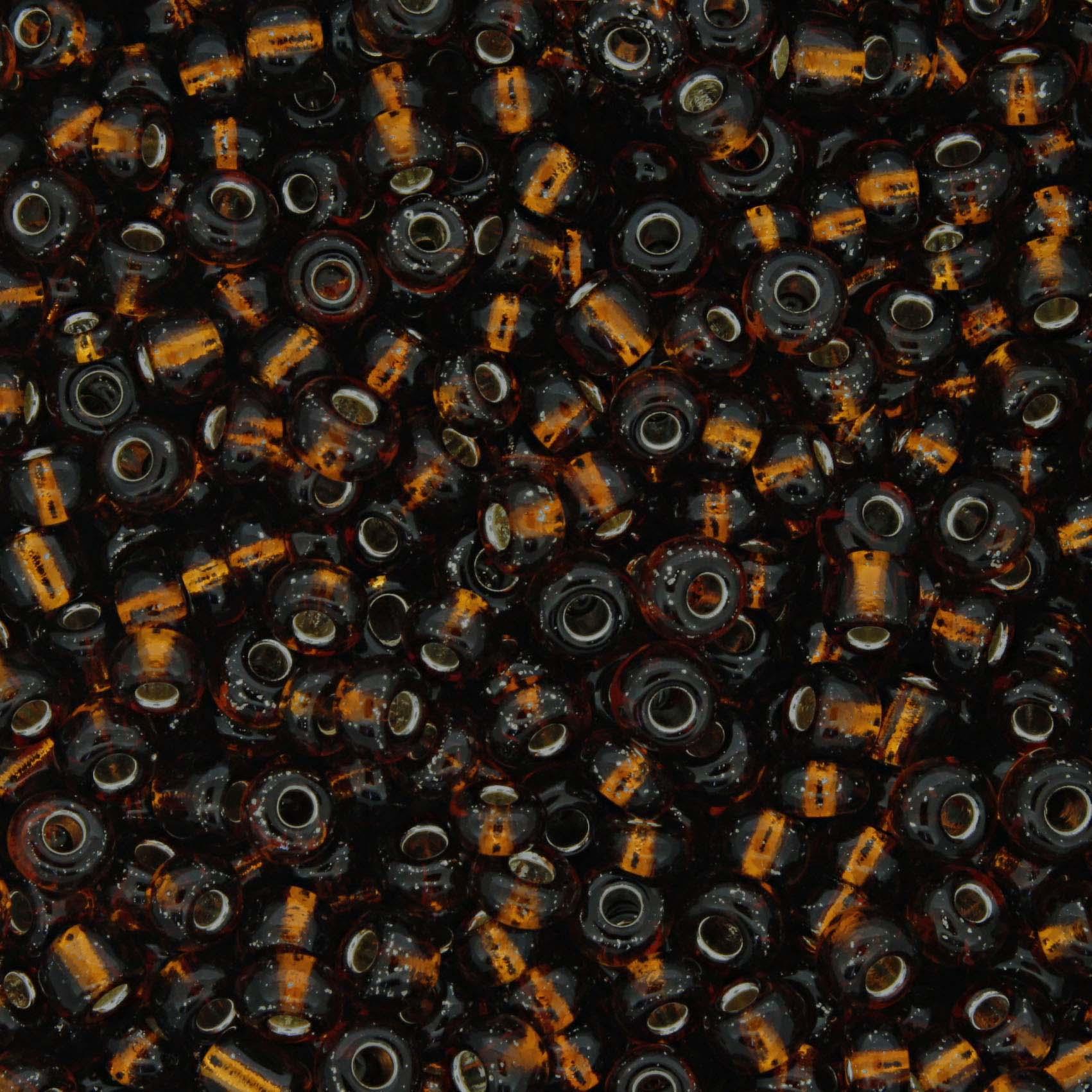 Miçanga - Marrom Transparente - 6/0 [4x3mm]  - Stéphanie Bijoux® - Peças para Bijuterias e Artesanato