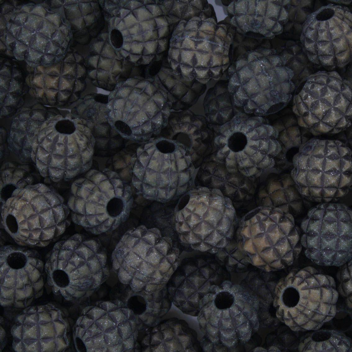 Miçanga Pesca - Abacaxi Verde Escuro  - Stéphanie Bijoux® - Peças para Bijuterias e Artesanato