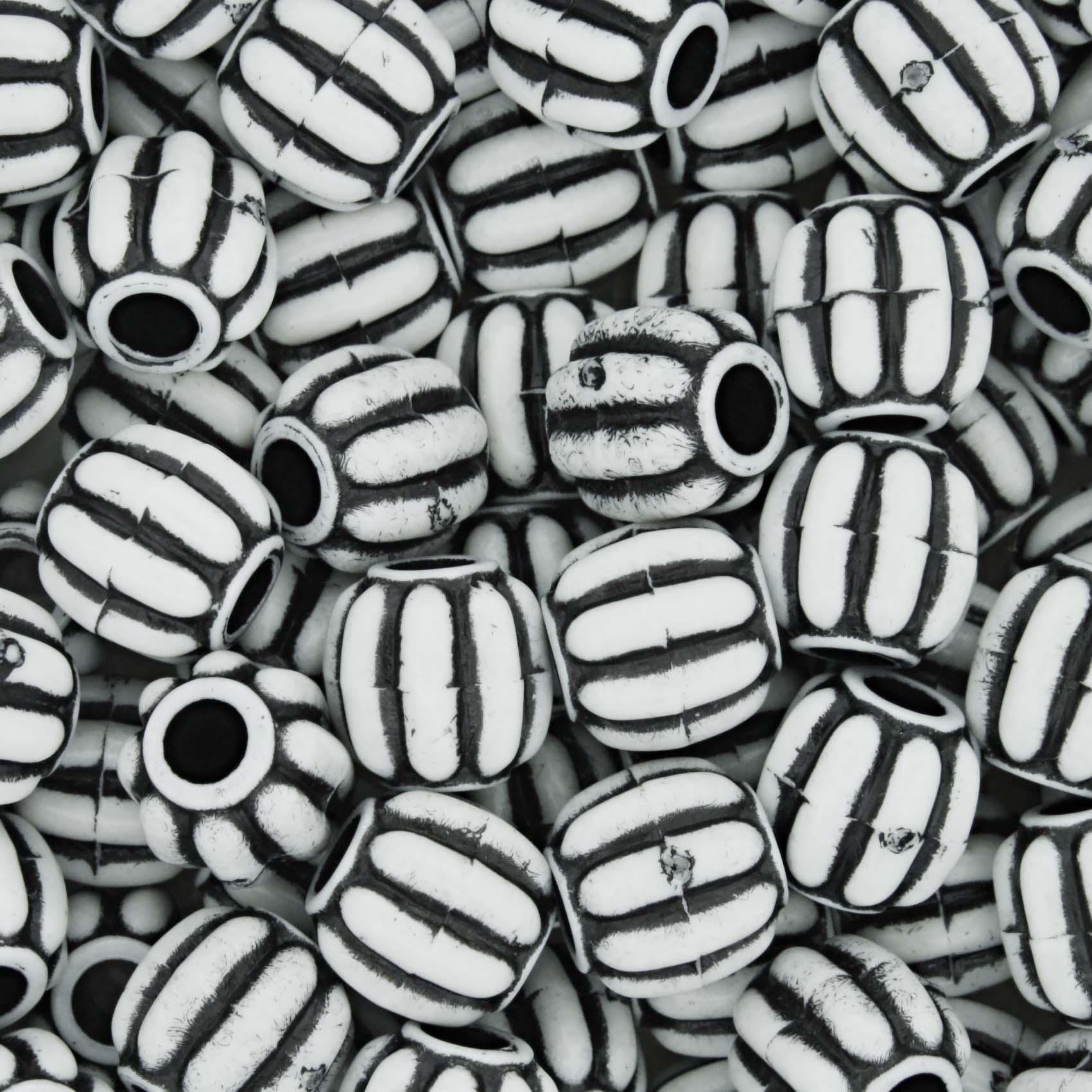 Miçanga Pesca - Carambola Branca e Preta  - Stéphanie Bijoux® - Peças para Bijuterias e Artesanato