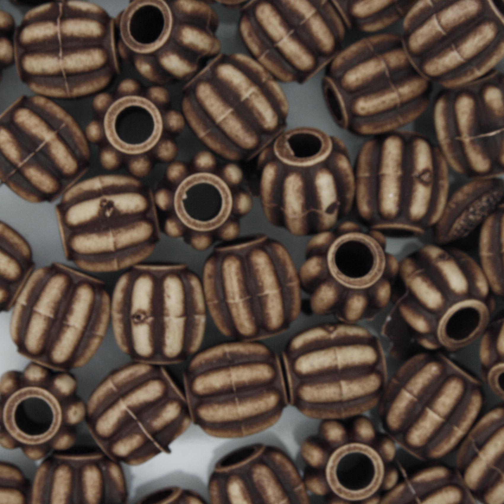 Miçanga Pesca - Carambola Chocolate  - Stéphanie Bijoux® - Peças para Bijuterias e Artesanato