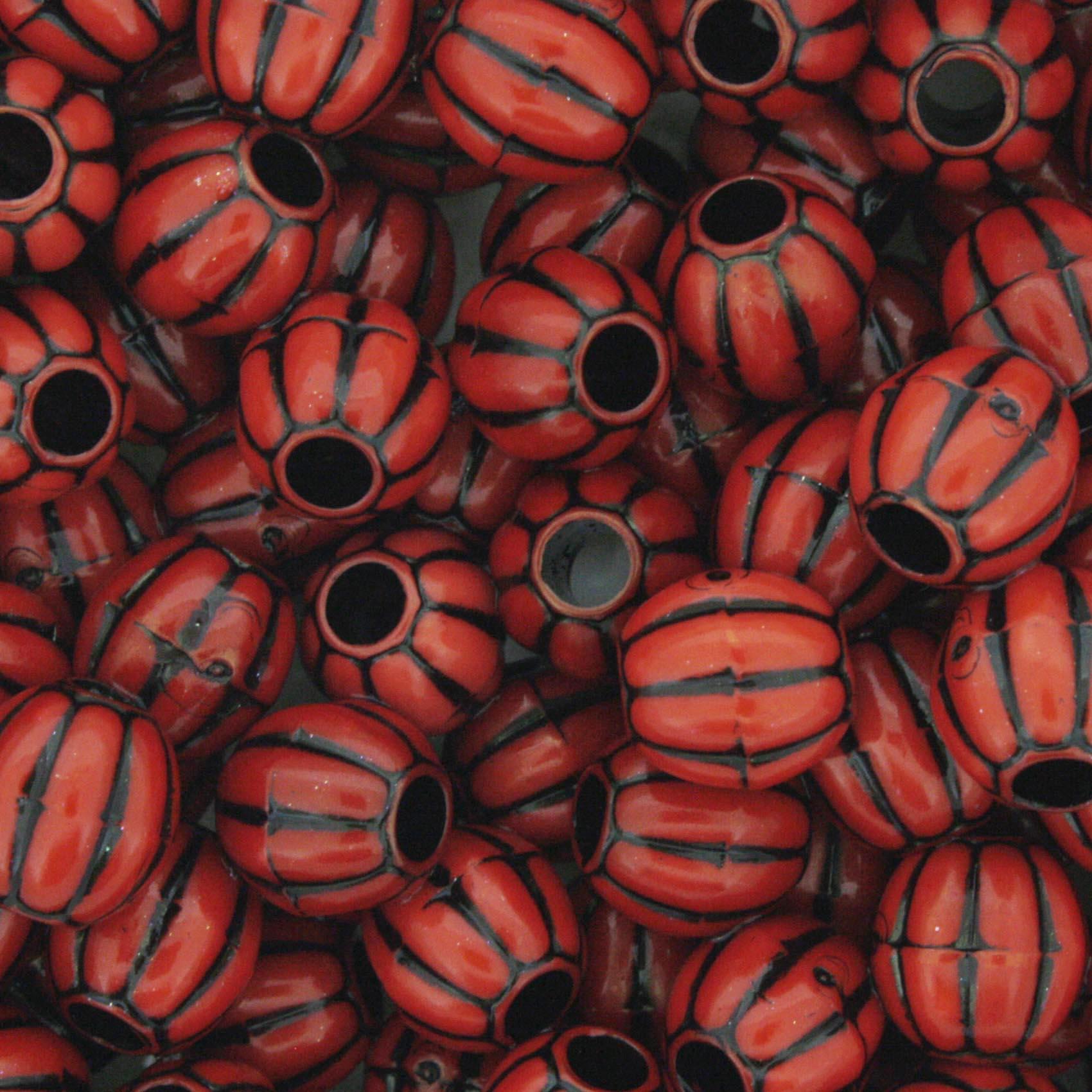Miçanga Pesca - Carambola Vermelha e Preta  - Stéphanie Bijoux® - Peças para Bijuterias e Artesanato