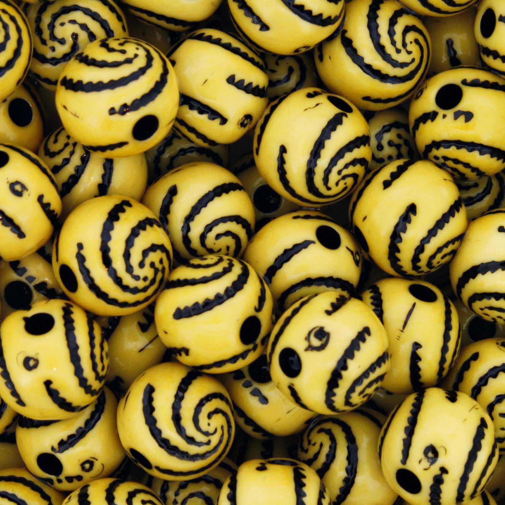 Miçanga Pesca - Espiral Amarelo  - Stéphanie Bijoux® - Peças para Bijuterias e Artesanato