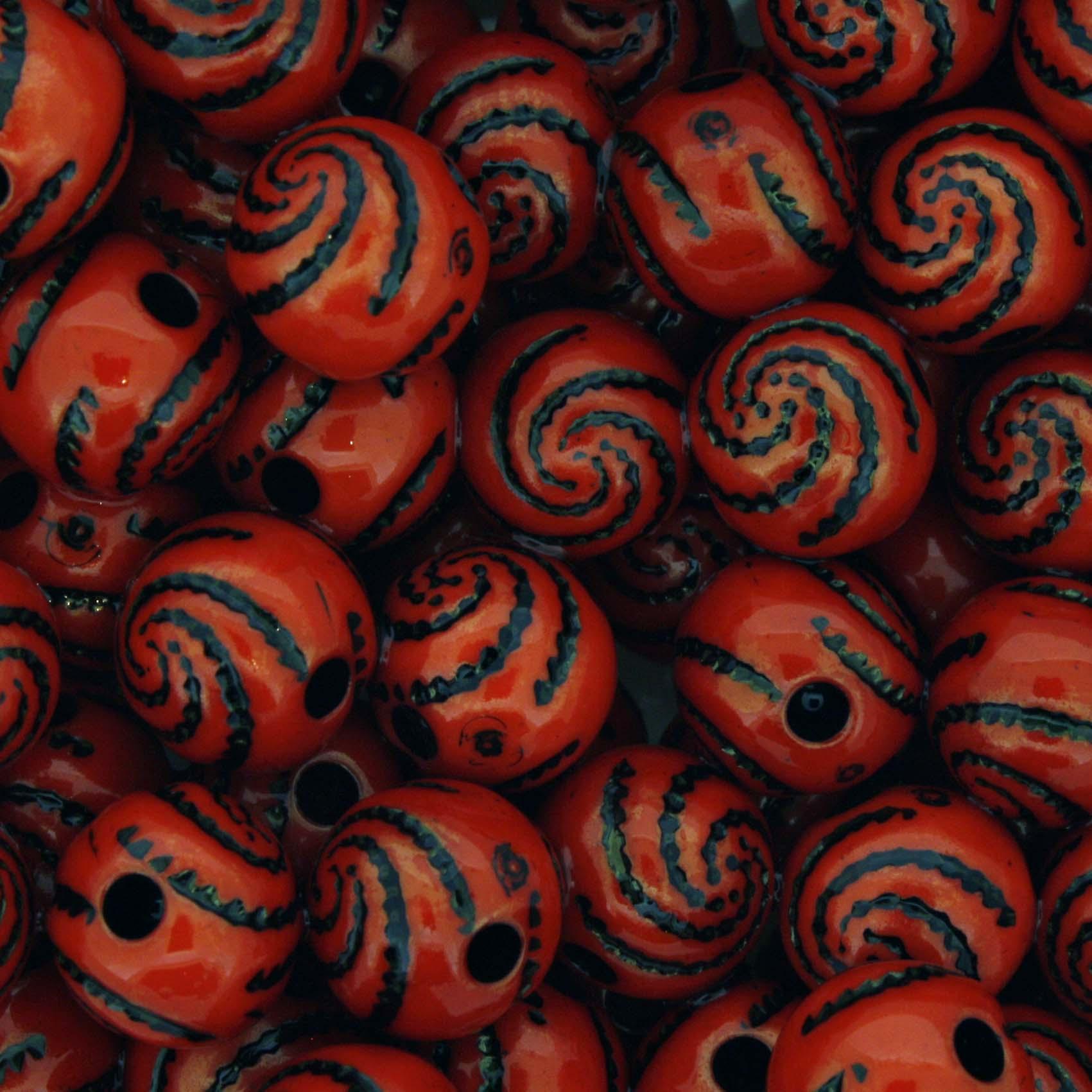 Miçanga Pesca - Espiral Vermelha Escuro  - Stéphanie Bijoux® - Peças para Bijuterias e Artesanato
