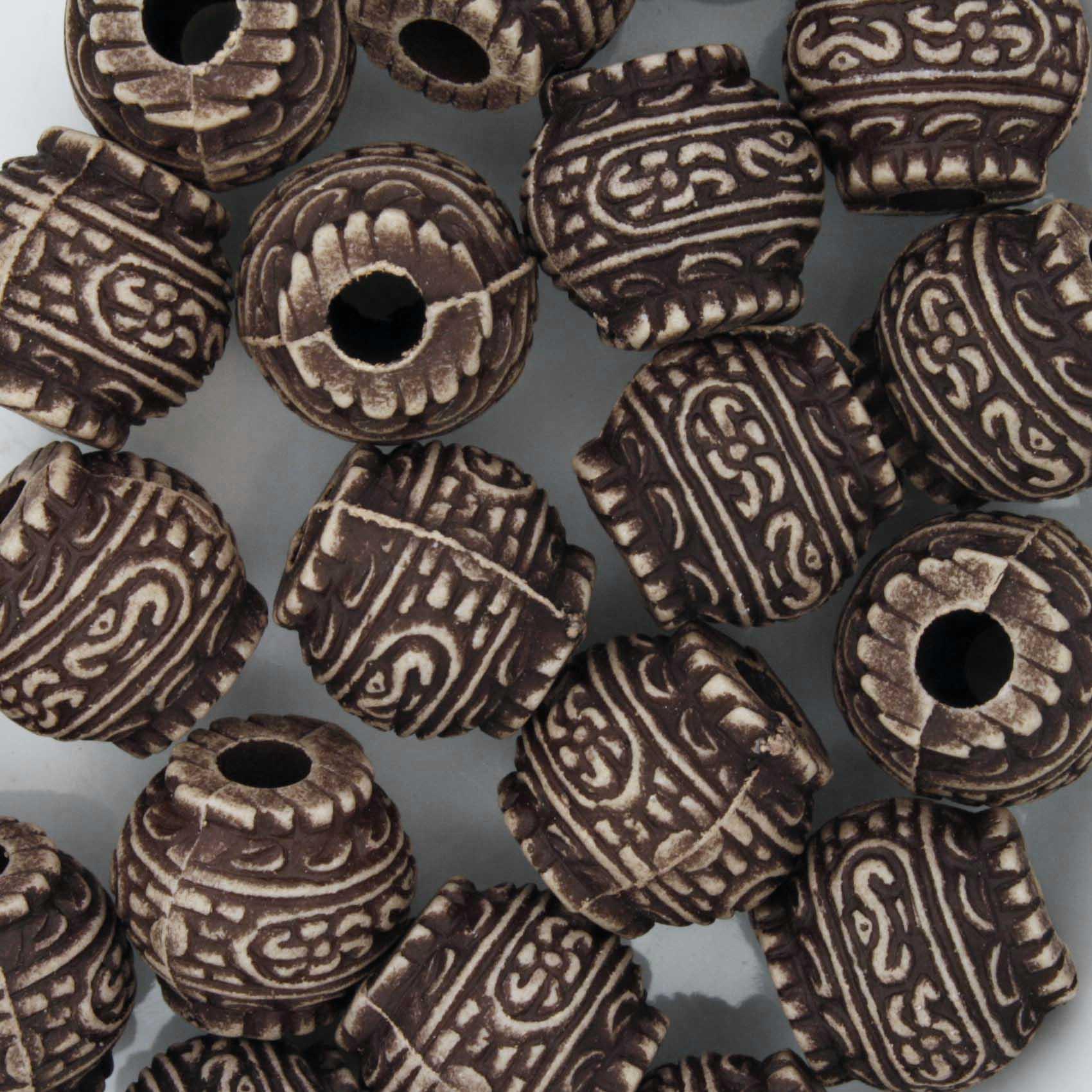 Miçanga Pesca - Inca Chocolate  - Stéphanie Bijoux® - Peças para Bijuterias e Artesanato