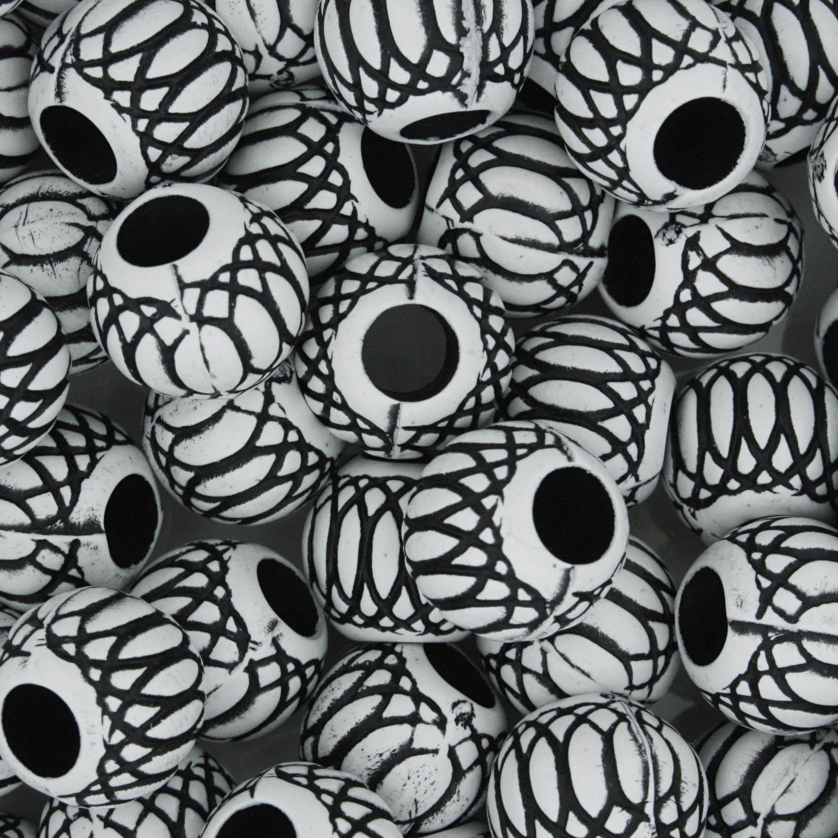 Miçanga Pesca - Mexerica Branca e Preta  - Stéphanie Bijoux® - Peças para Bijuterias e Artesanato
