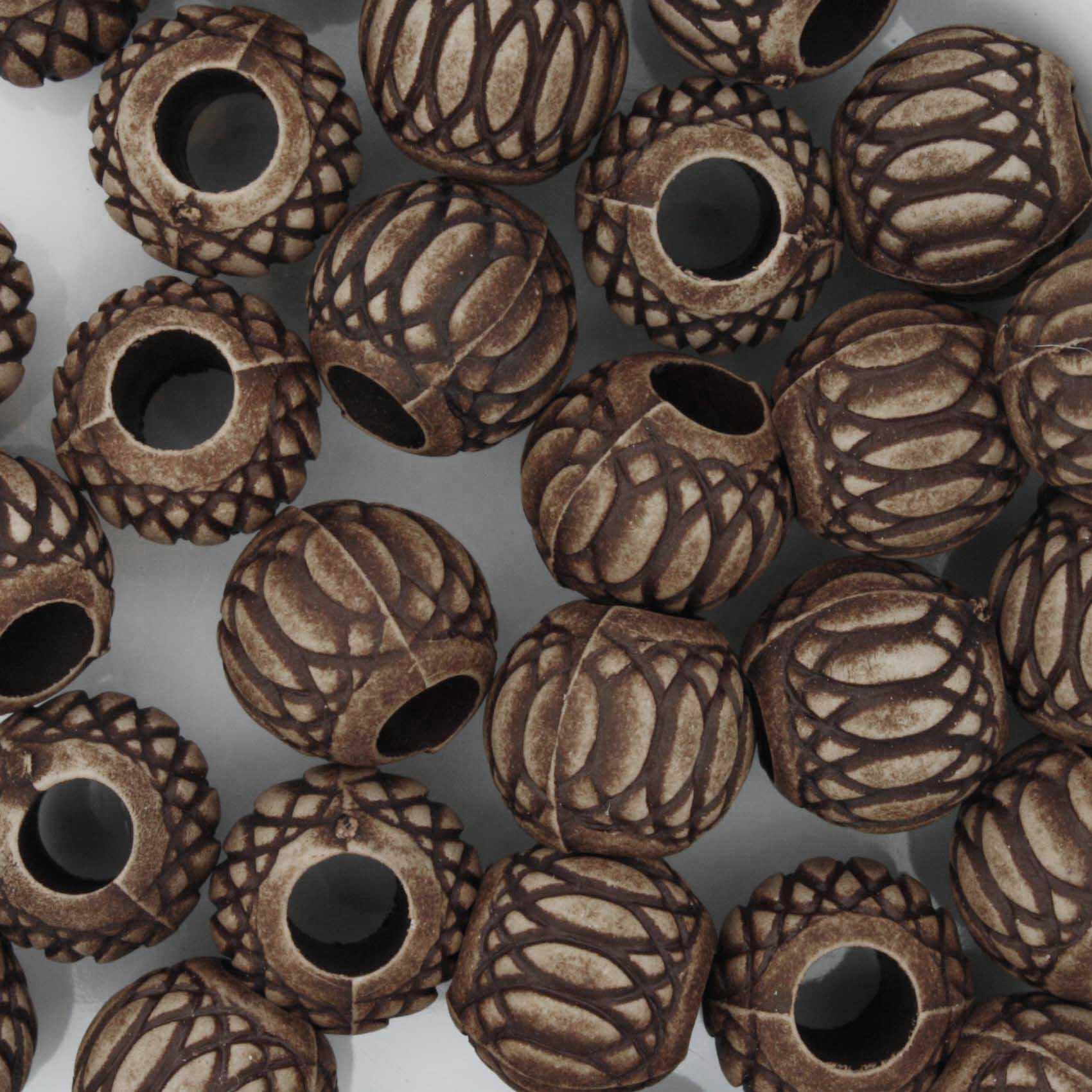 Miçanga Pesca - Mexerica Chocolate  - Stéphanie Bijoux® - Peças para Bijuterias e Artesanato