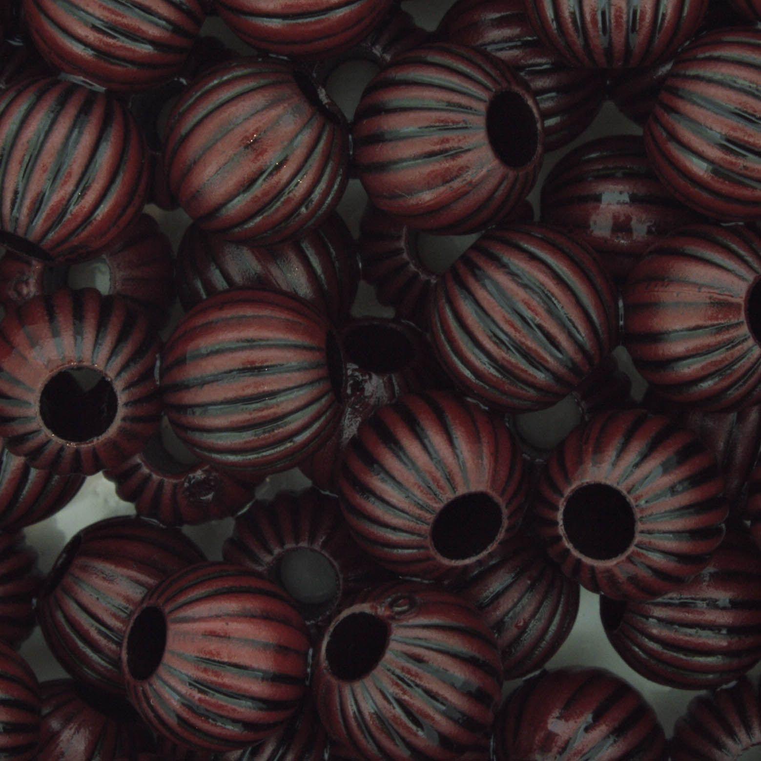 Miçanga Pesca - Sorocaba Vermelha e Preta  - Stéphanie Bijoux® - Peças para Bijuterias e Artesanato