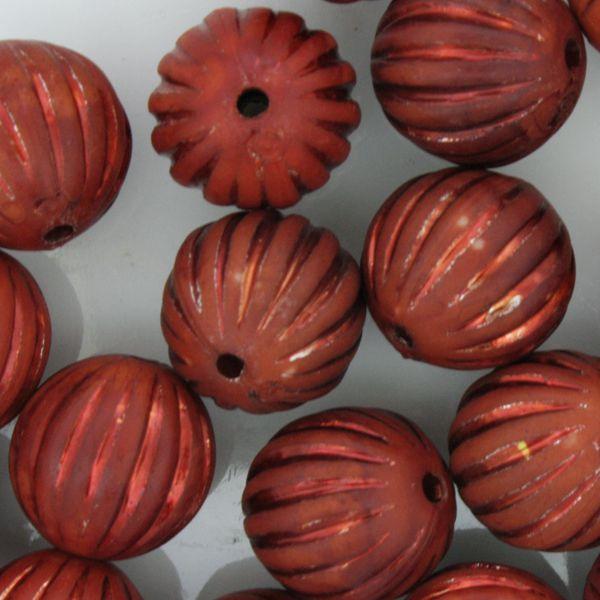 Miçanga Pesca - Sorocabão Brilho Vermelha  - Stéphanie Bijoux® - Peças para Bijuterias e Artesanato