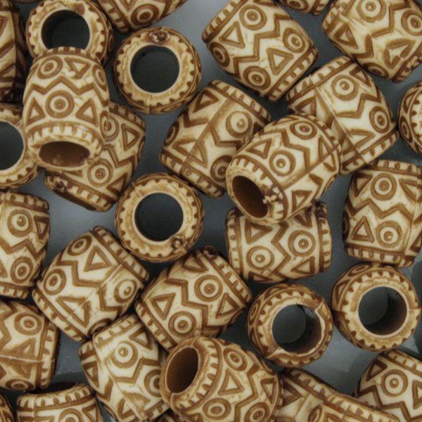 Miçanga Pesca - Tambor Tribal  - Stéphanie Bijoux® - Peças para Bijuterias e Artesanato