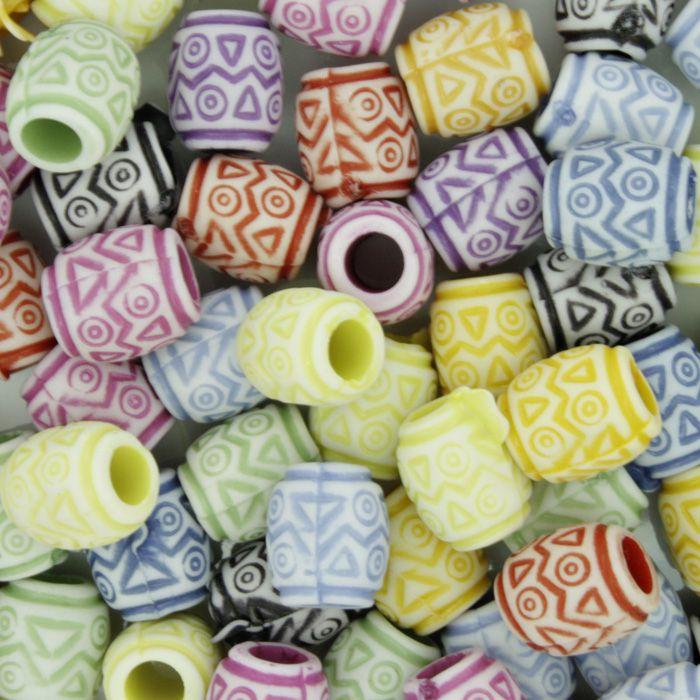 Miçanga Pesca - Mini Tambor Tribal Colorido  - Stéphanie Bijoux® - Peças para Bijuterias e Artesanato