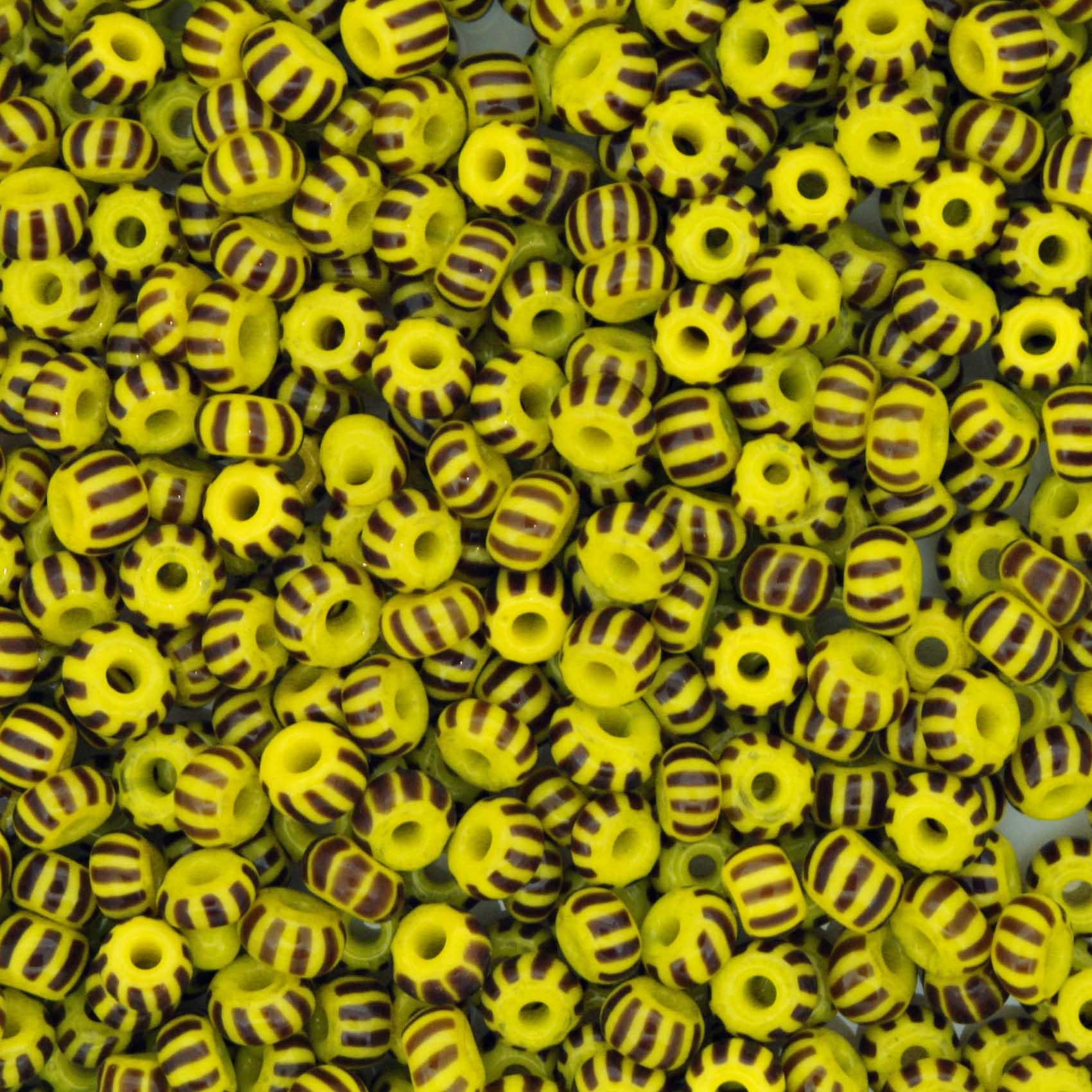 Miçanga - Rajada Especial Amarela e Preta 6/0 [4x3mm]  - Stéphanie Bijoux® - Peças para Bijuterias e Artesanato