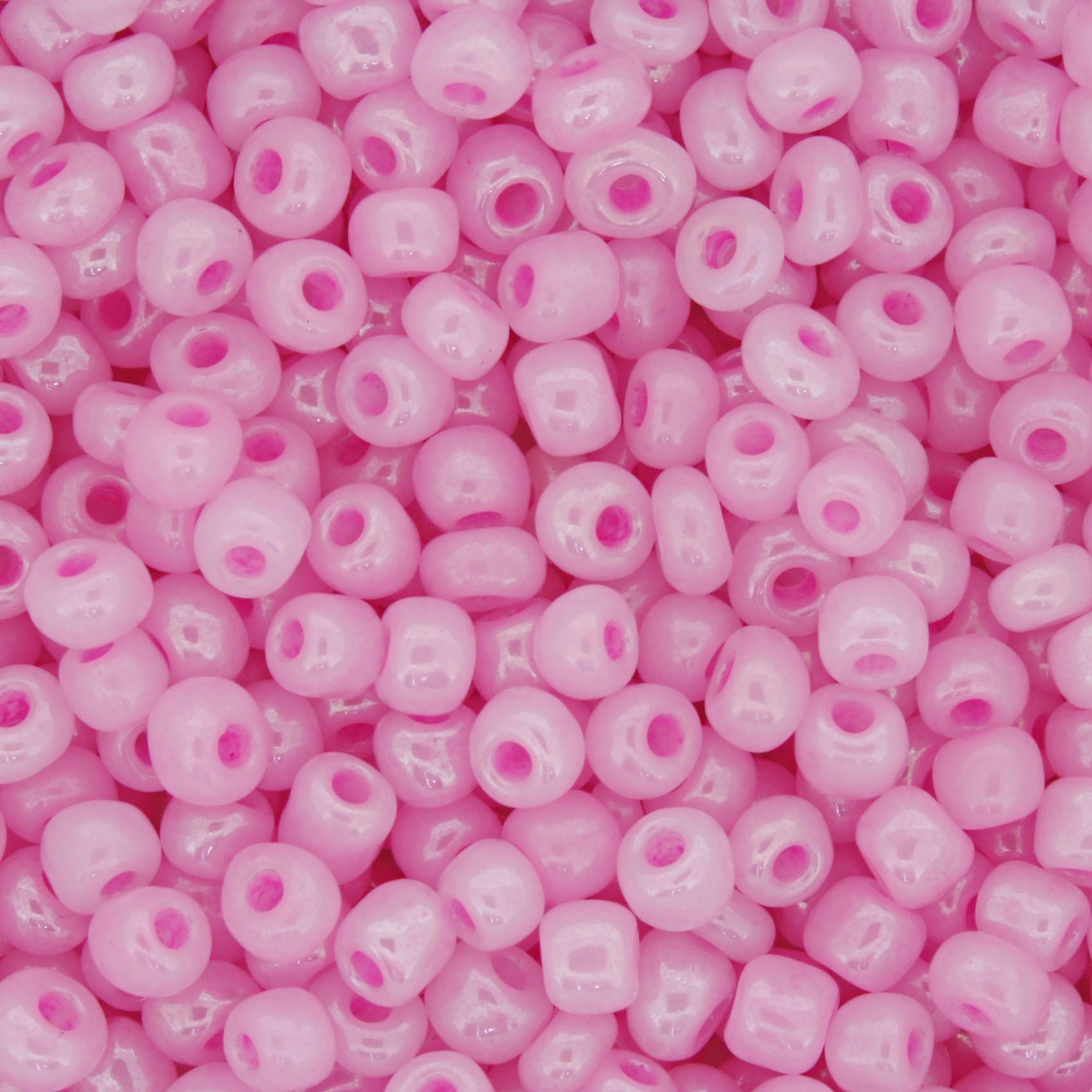 Miçanga - Rosa Perolada - 6/0 [4x3mm]  - Stéphanie Bijoux® - Peças para Bijuterias e Artesanato