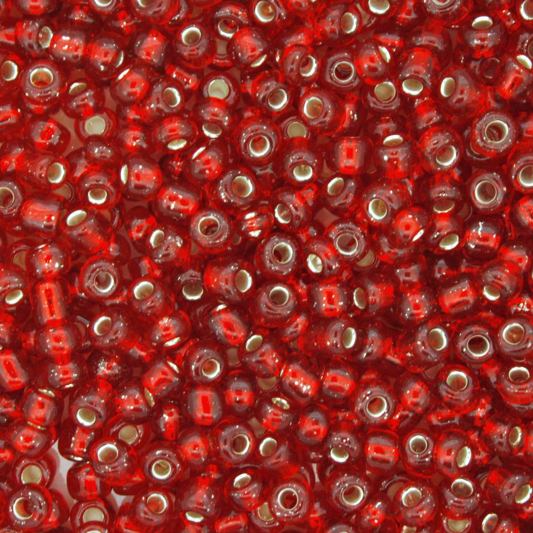 Miçanga - Vemelha Transparente - 6/0 [4x3mm]  - Stéphanie Bijoux® - Peças para Bijuterias e Artesanato
