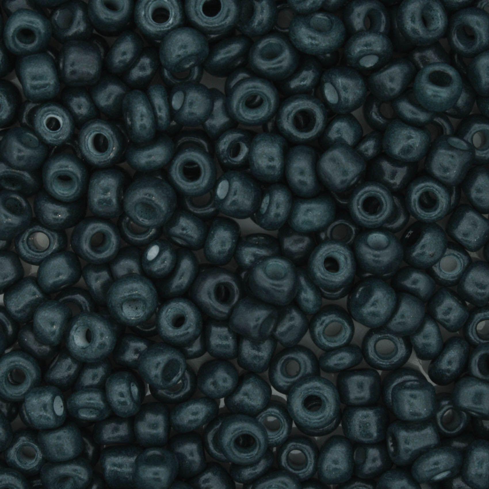 Miçanga - Verde Escuro 6/0 [4x3mm]  - Stéphanie Bijoux® - Peças para Bijuterias e Artesanato