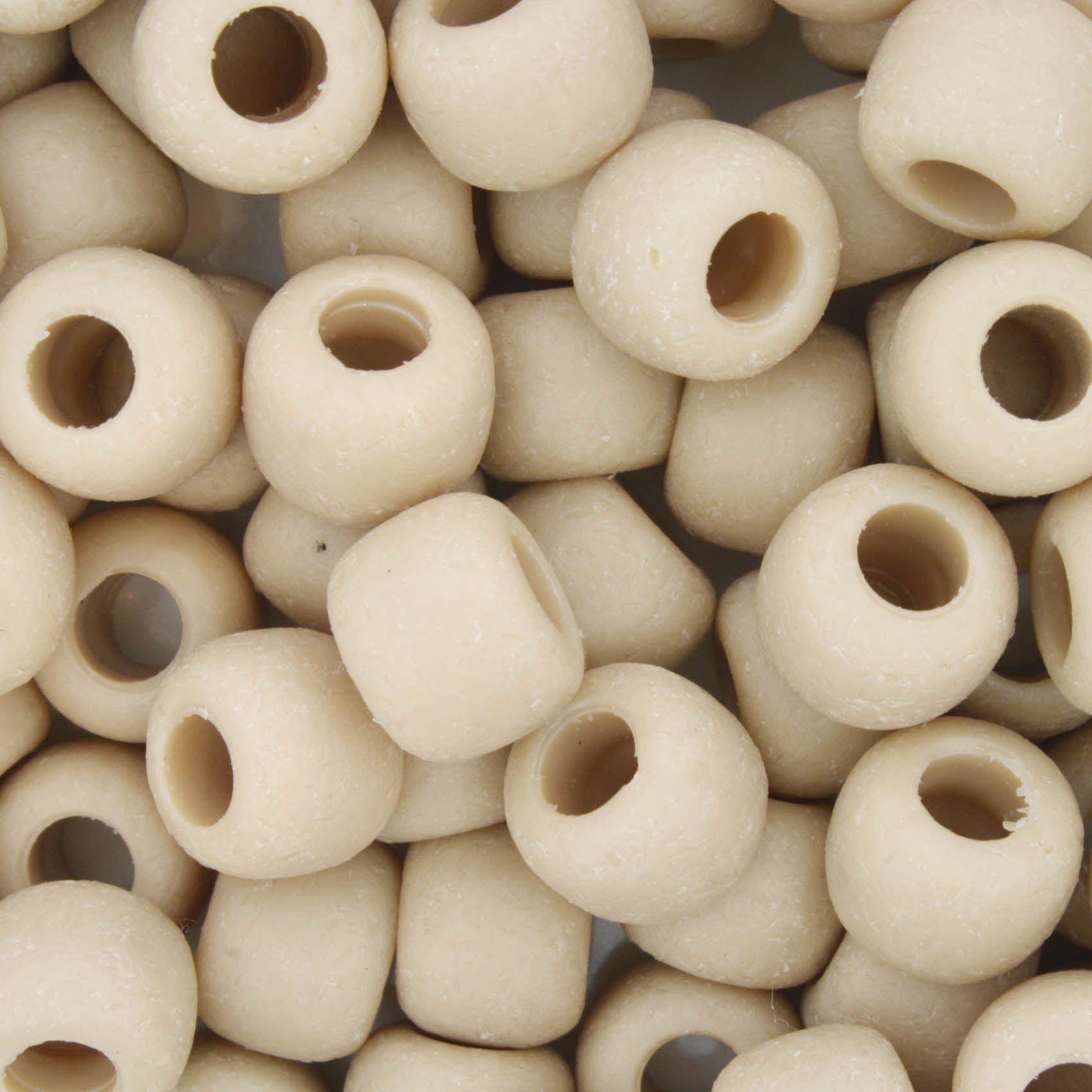Miçangão Plástico - Bege Fosco  - Stéphanie Bijoux® - Peças para Bijuterias e Artesanato